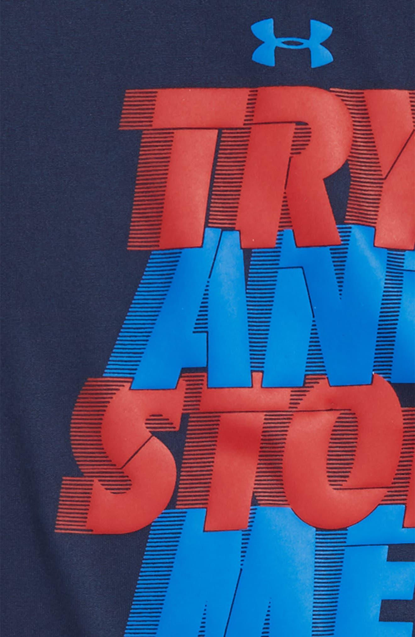 Try & Stop Me HeatGear<sup>®</sup> T-Shirt & Shorts Set,                             Alternate thumbnail 2, color,                             Academy