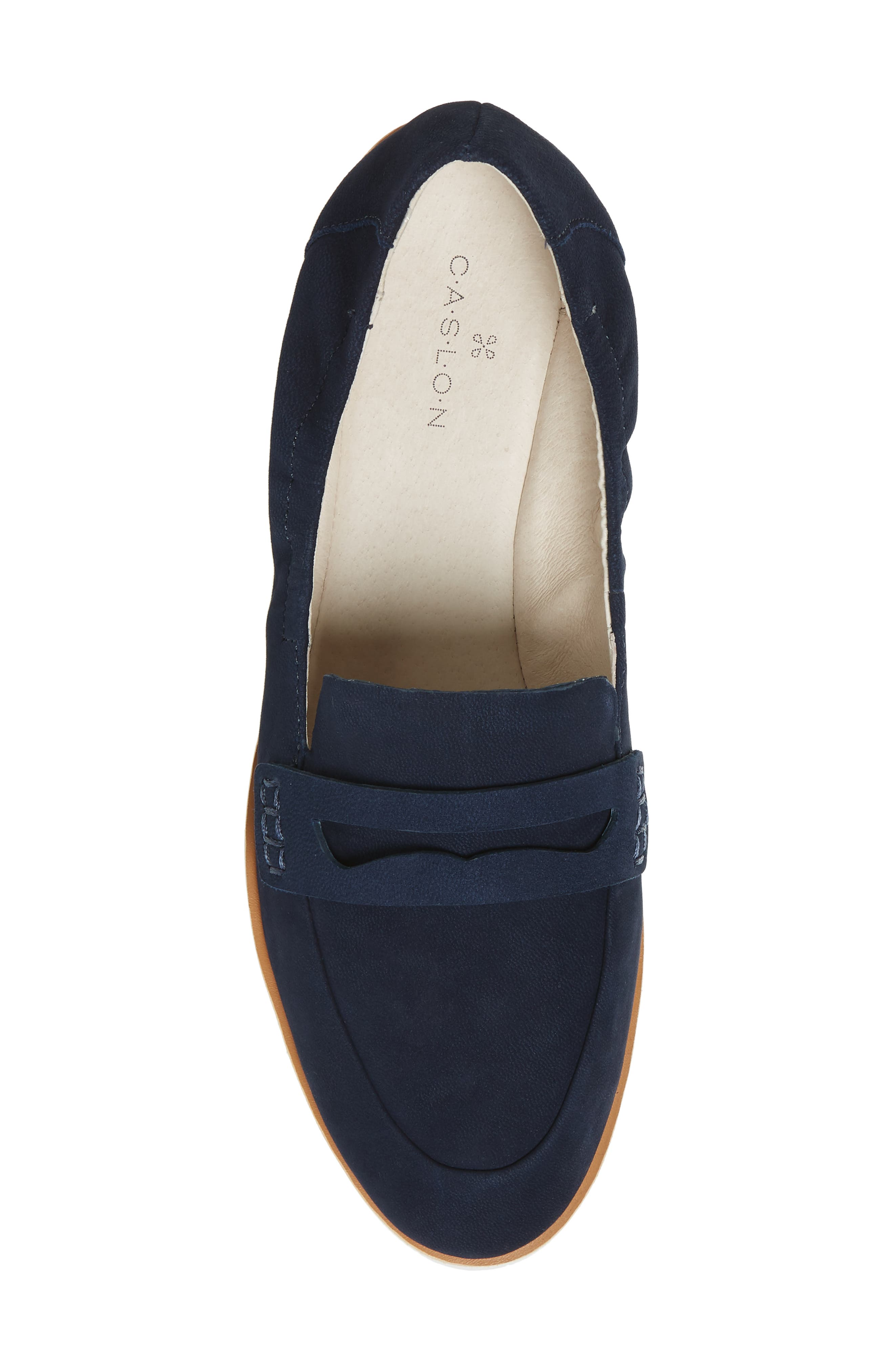 Rylee Penny Loafer,                             Alternate thumbnail 5, color,                             Navy Nubuck