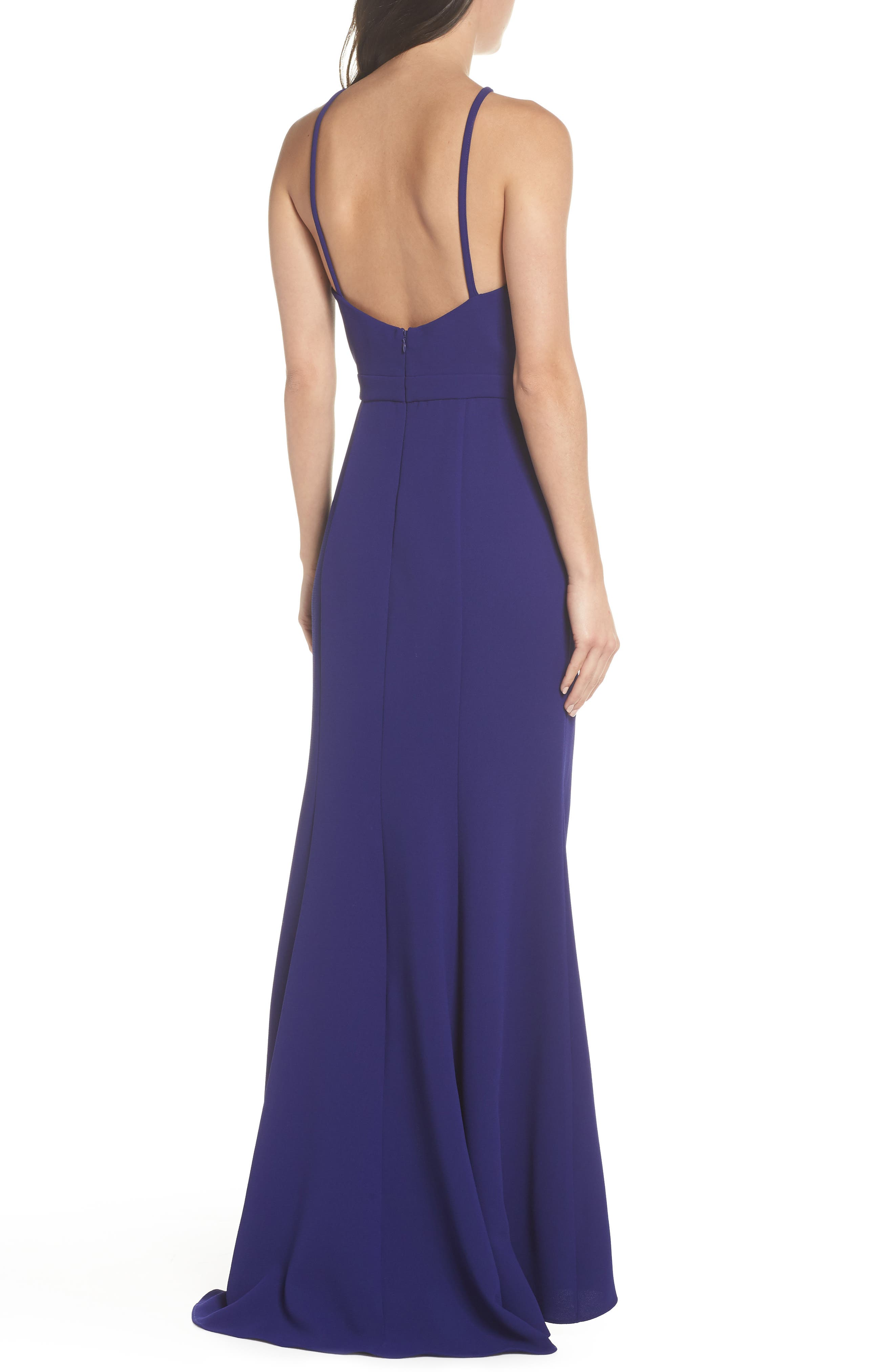 High Neck Gown,                             Alternate thumbnail 2, color,                             Royal