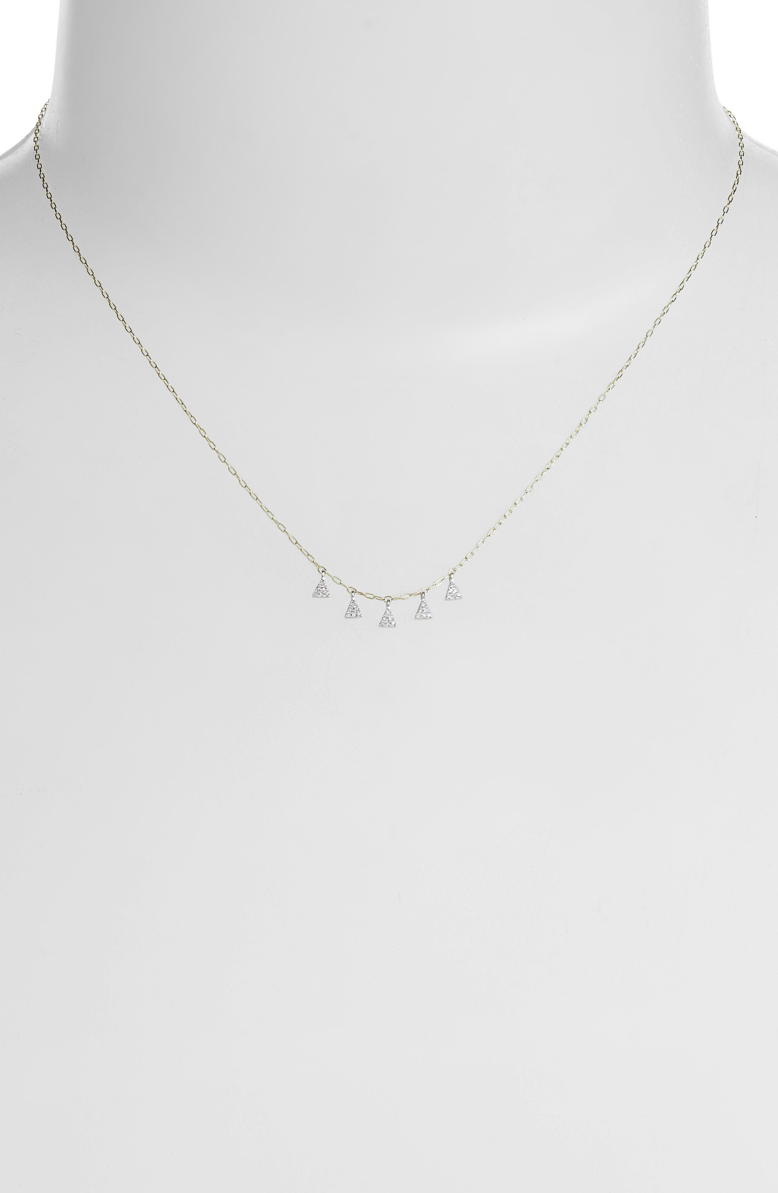 Meira T 5-Diamond Charm Necklace