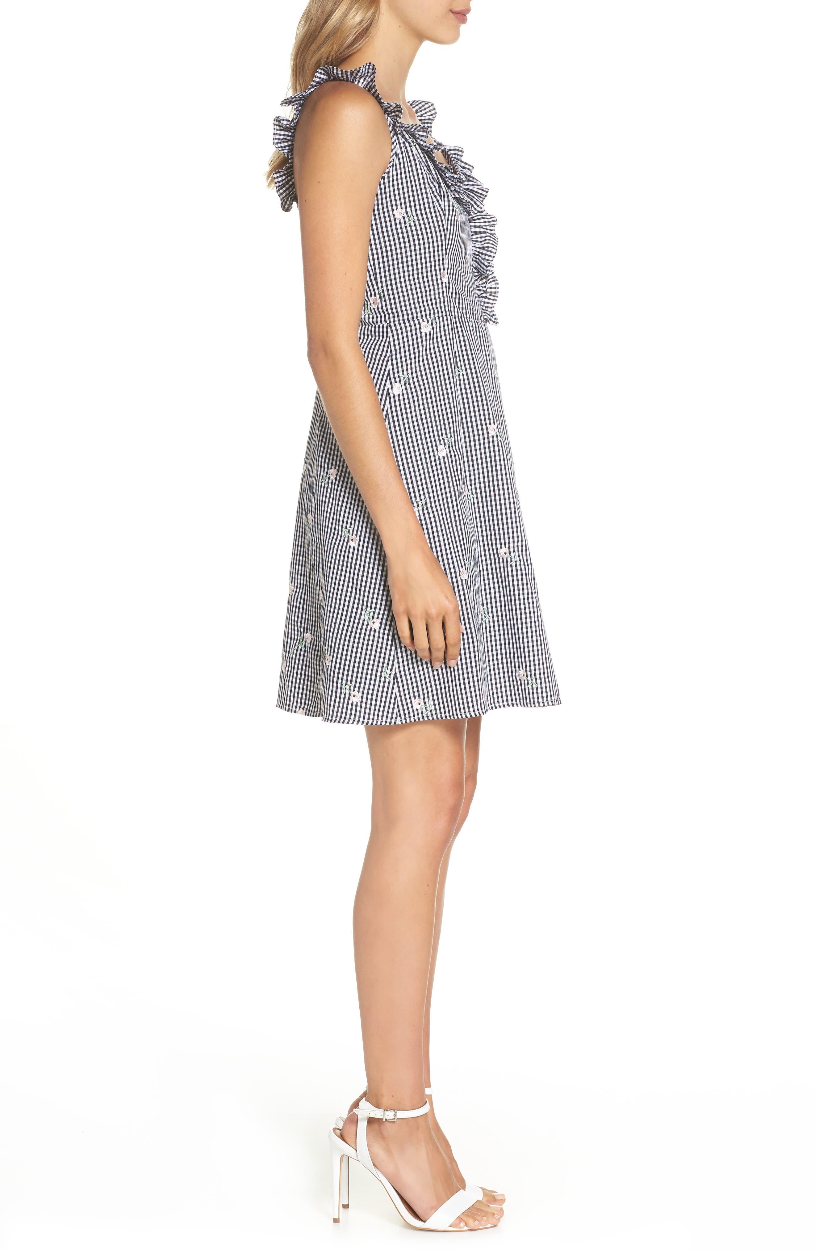 Jilly A-Line Cotton Dress,                             Alternate thumbnail 3, color,                             Multi