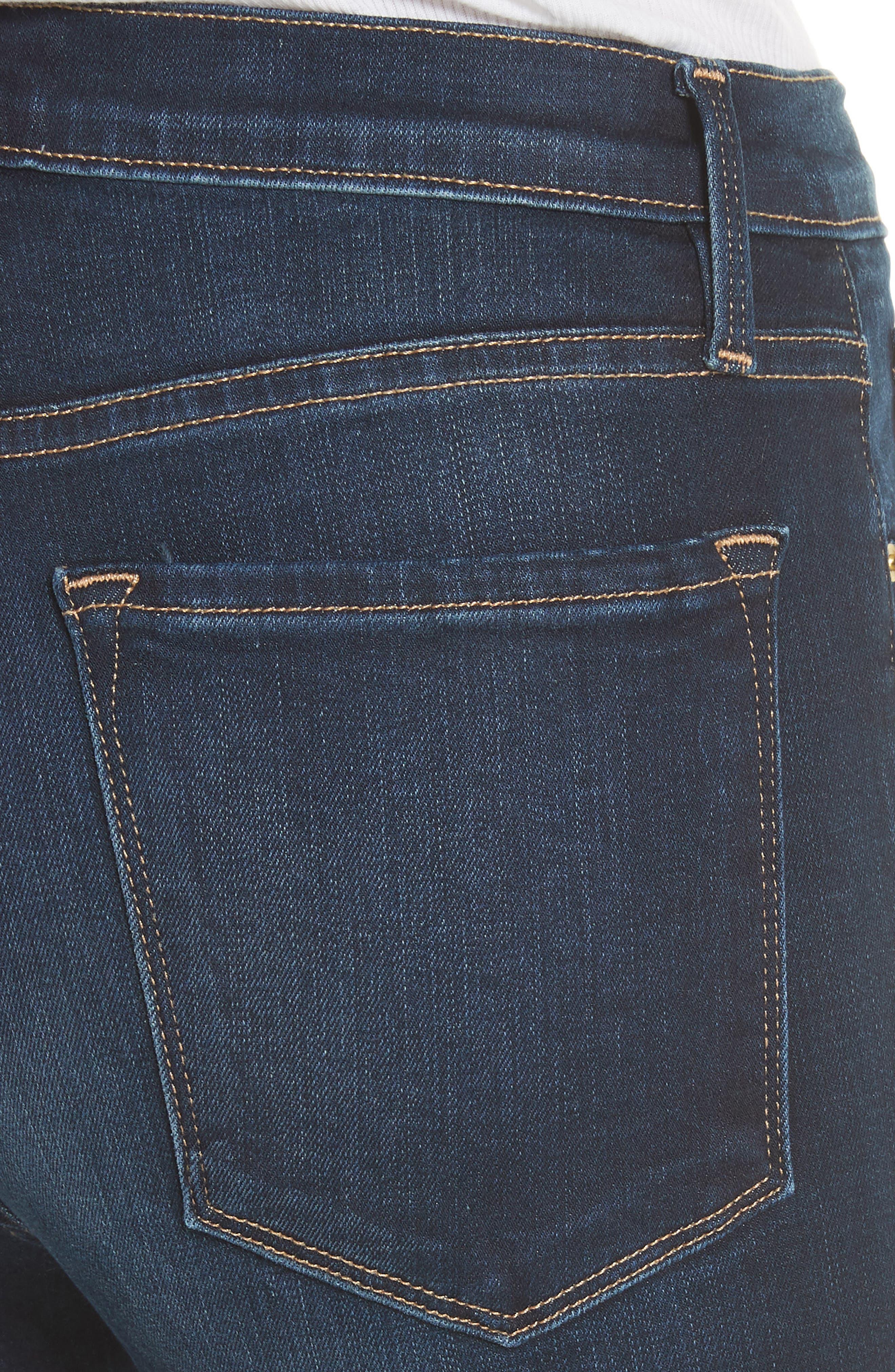 Alternate Image 4  - FRAME Ali High Waist Skinny Jeans (Wayside)
