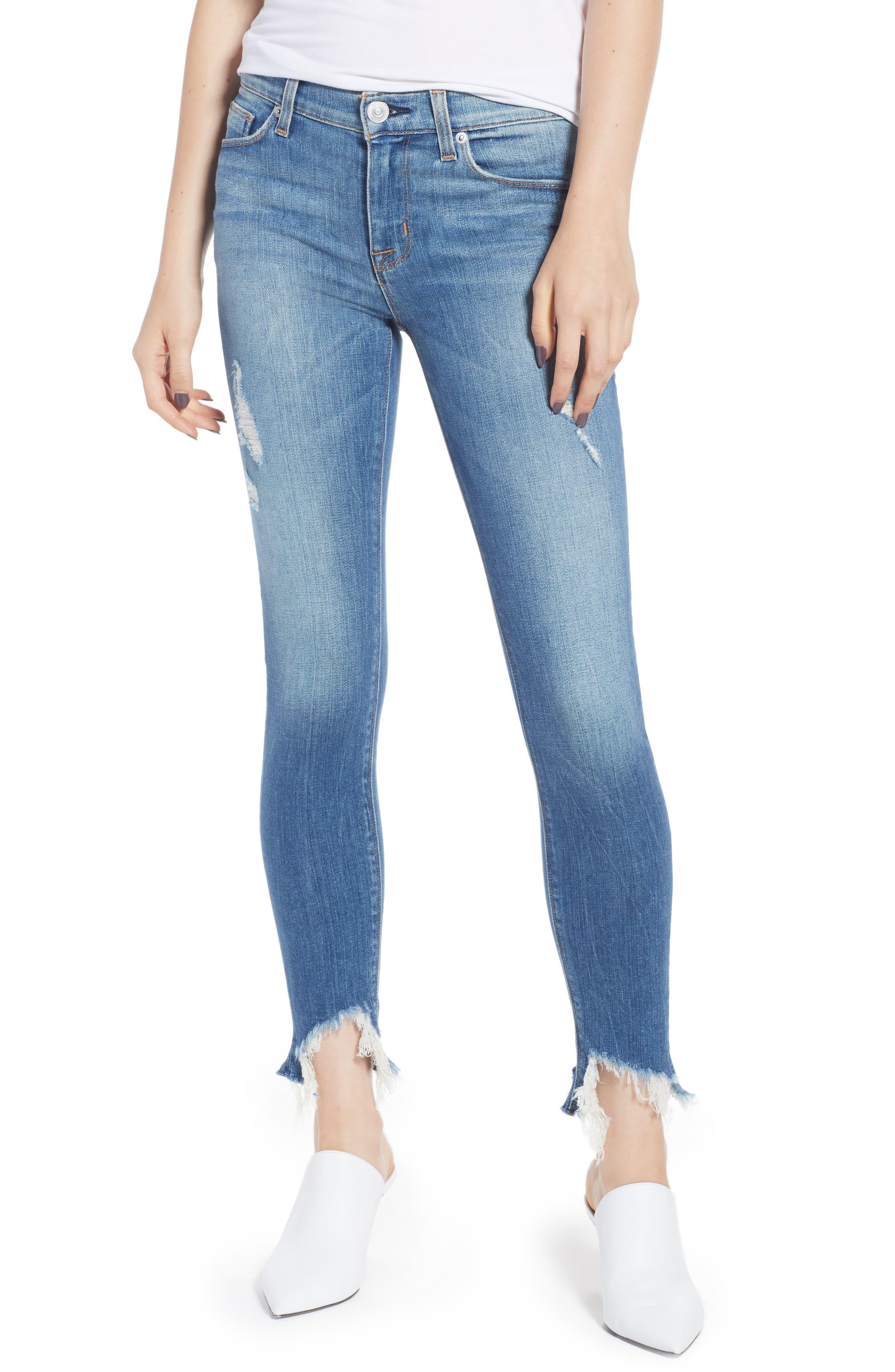 Nico Zip Hem Crop Skinny Jeans,                             Main thumbnail 1, color,                             Bite Back