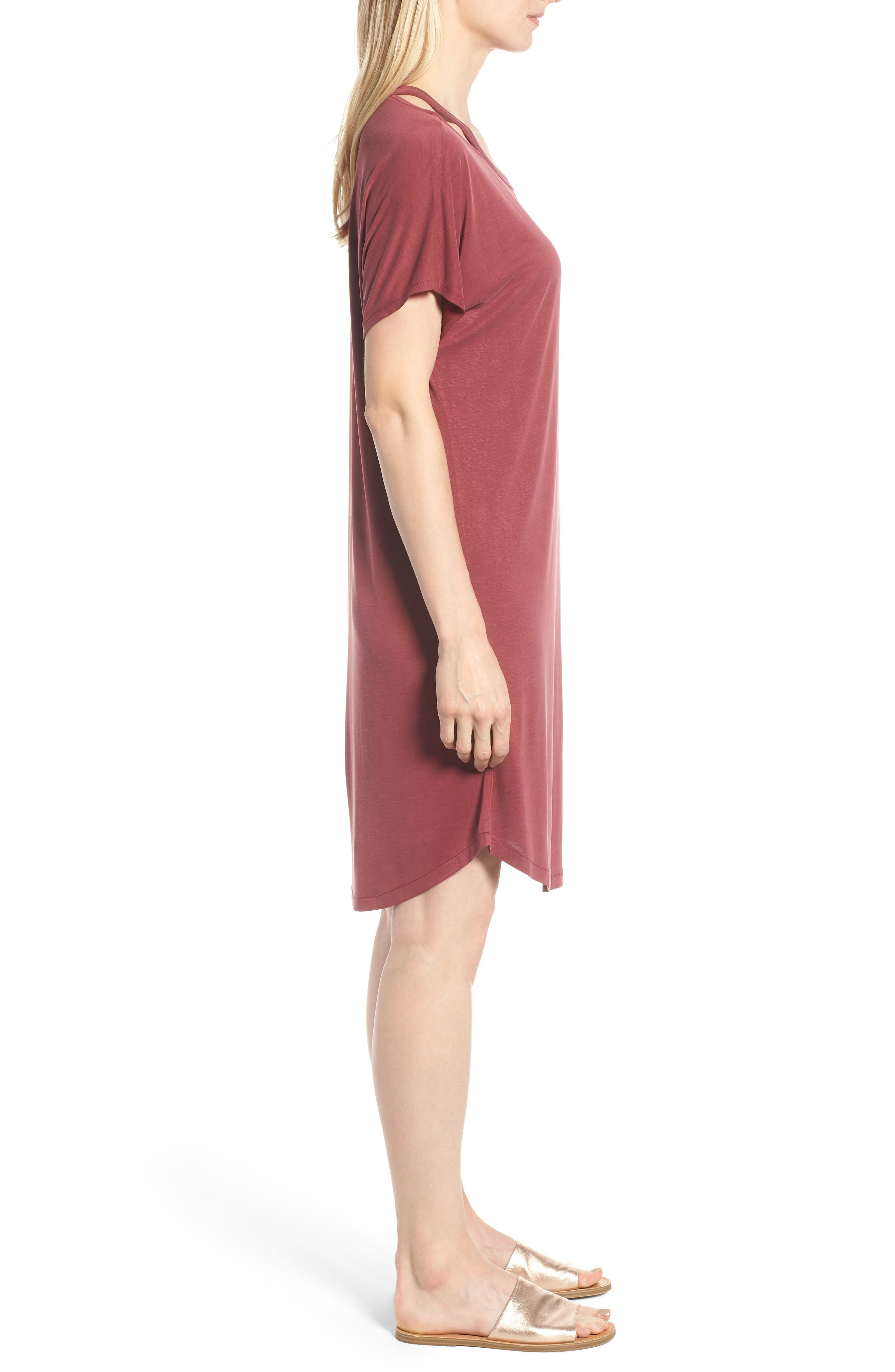 Open Road Dress,                             Alternate thumbnail 3, color,                             Washed Raisin