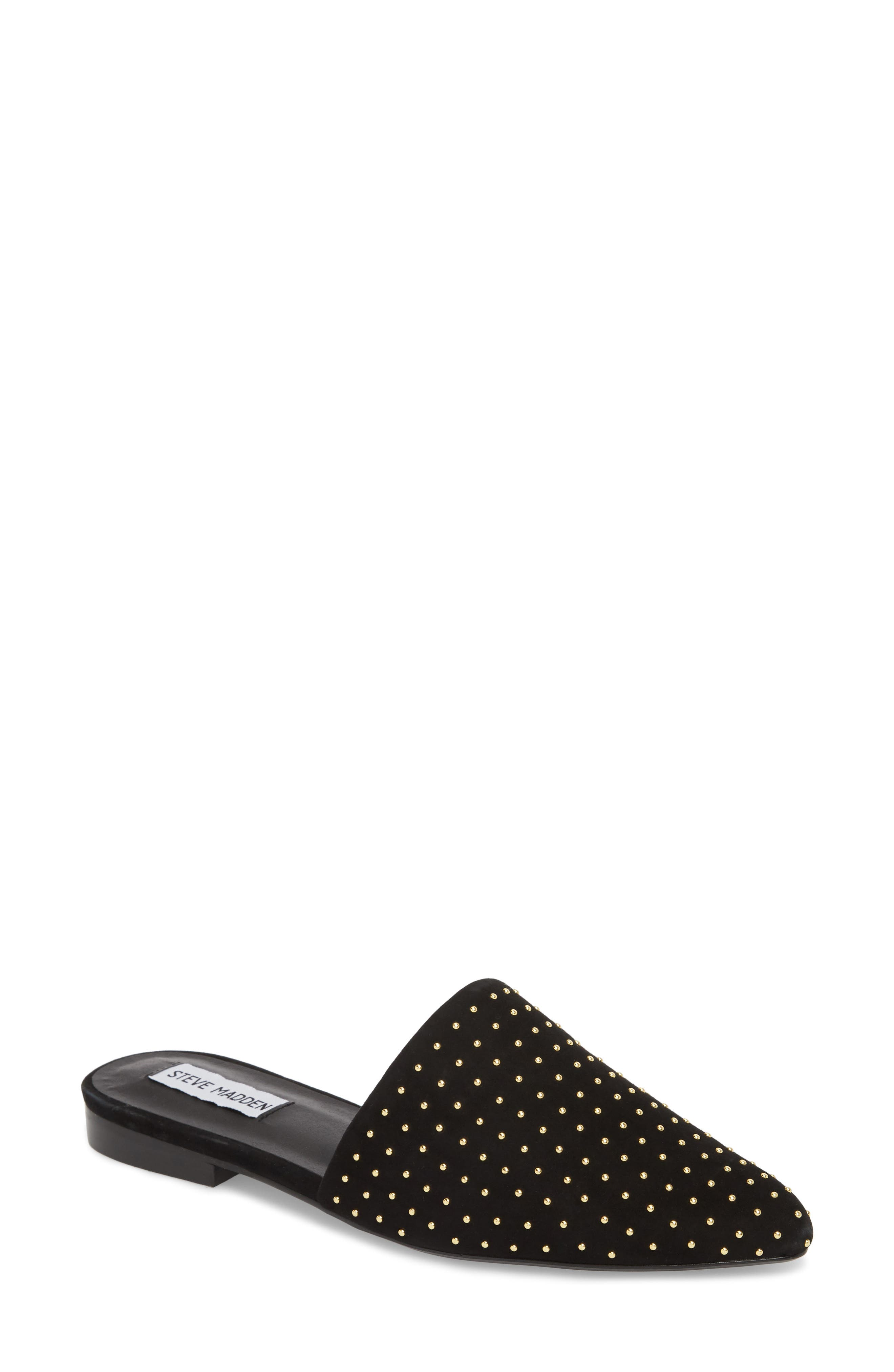 Trace Studded Mule,                             Main thumbnail 1, color,                             Black With Stud