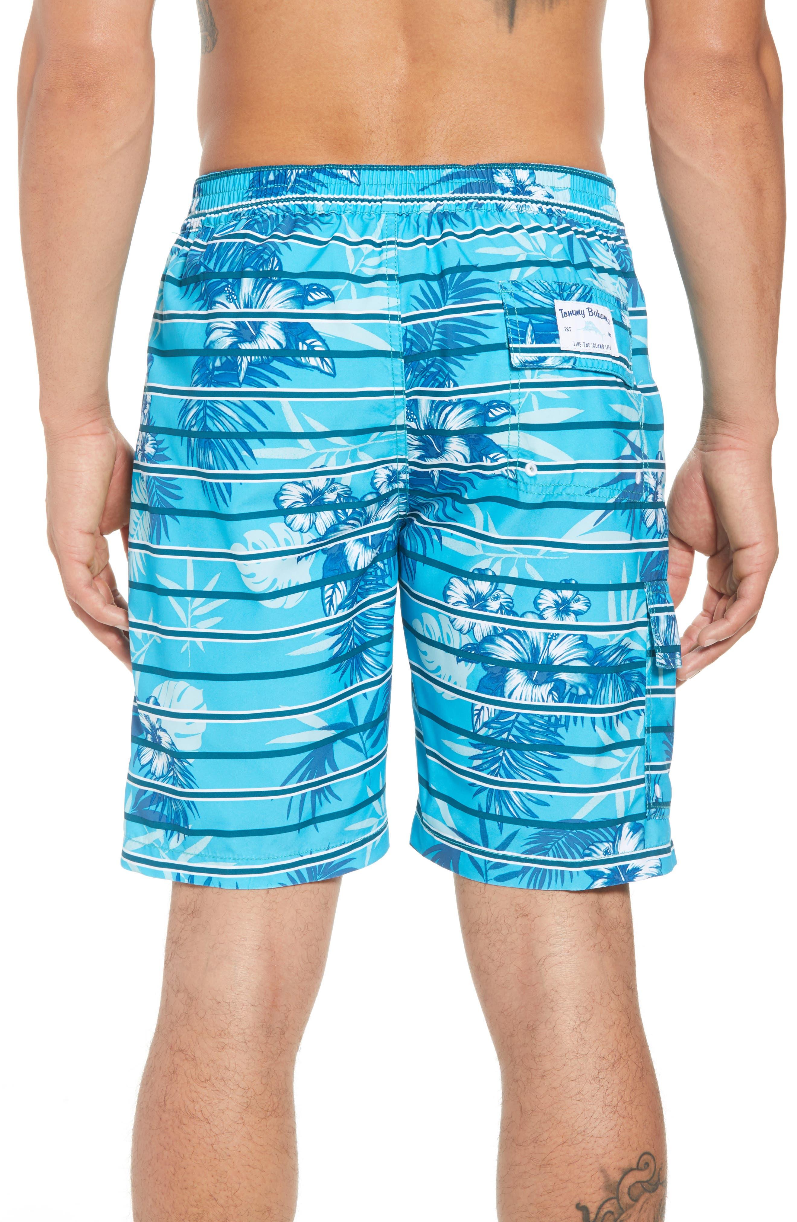 Baja Satillo Stripe Board Shorts,                             Alternate thumbnail 2, color,                             Blue Radiance
