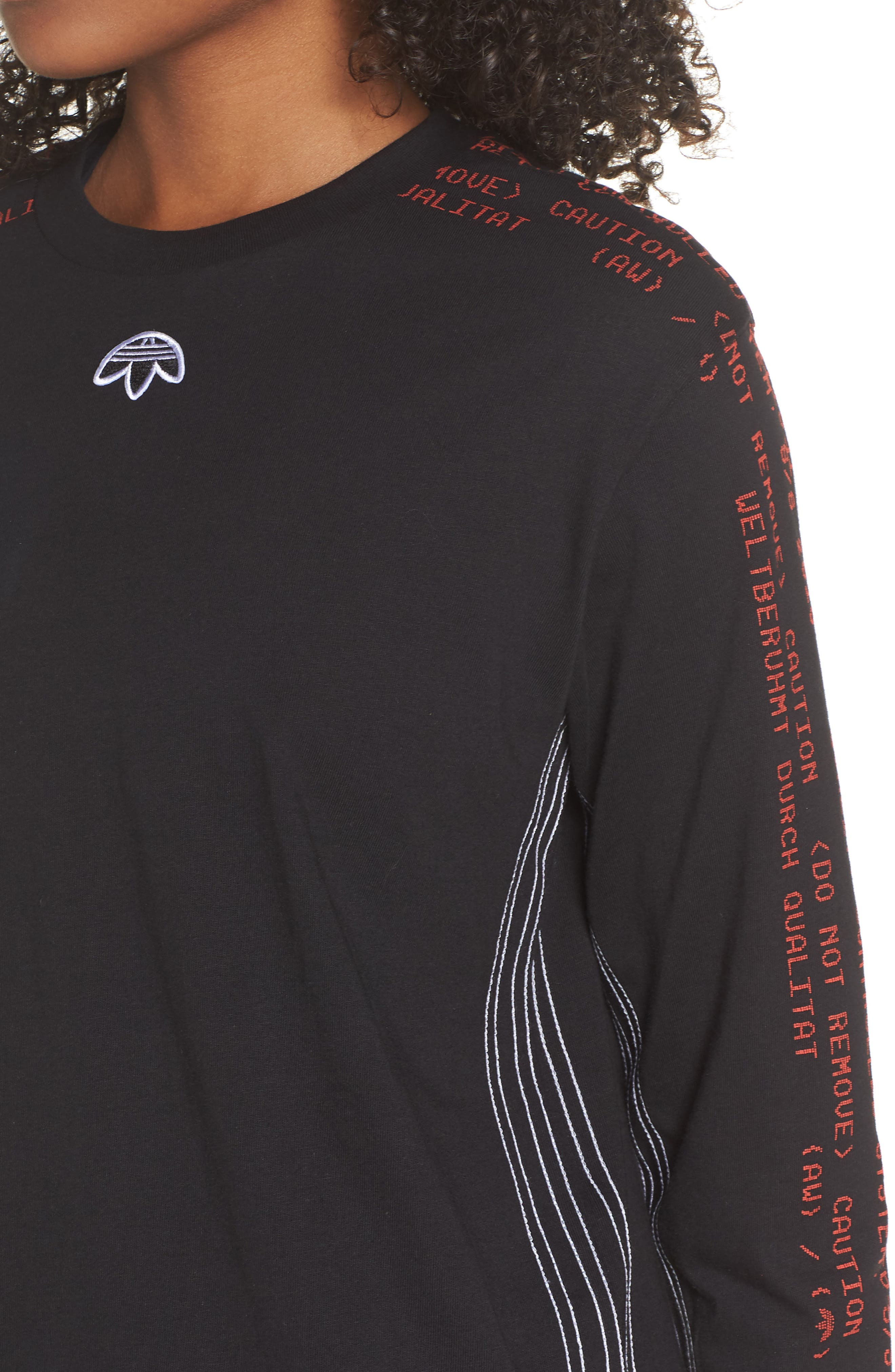 Tee,                             Alternate thumbnail 4, color,                             Black/ Core Red