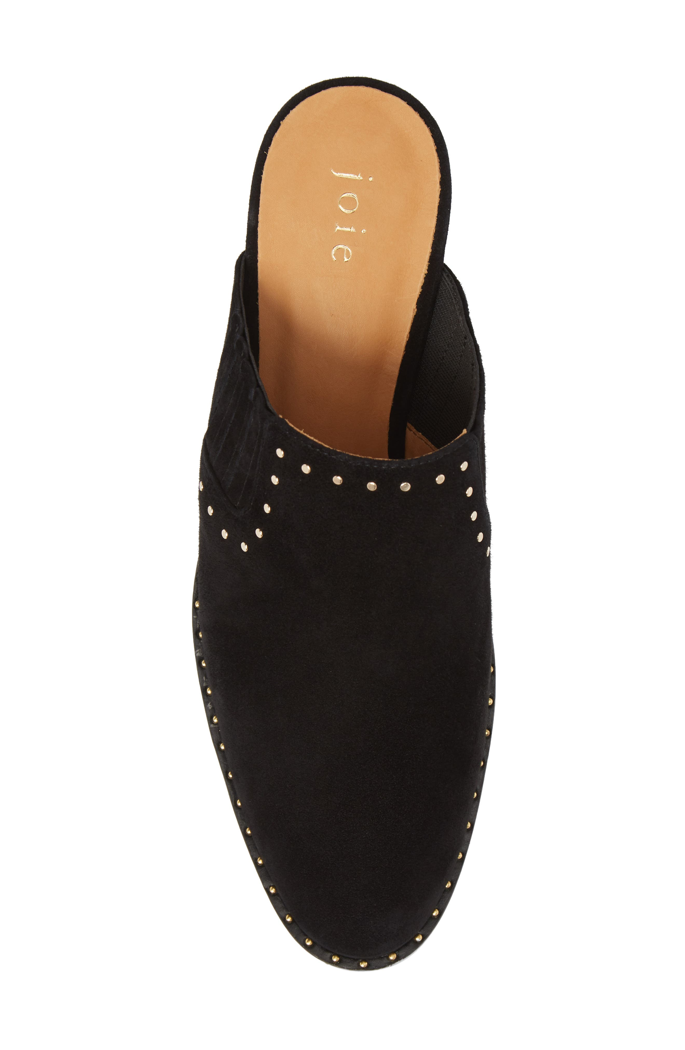 Fayla Studded Mule,                             Alternate thumbnail 5, color,                             Nero