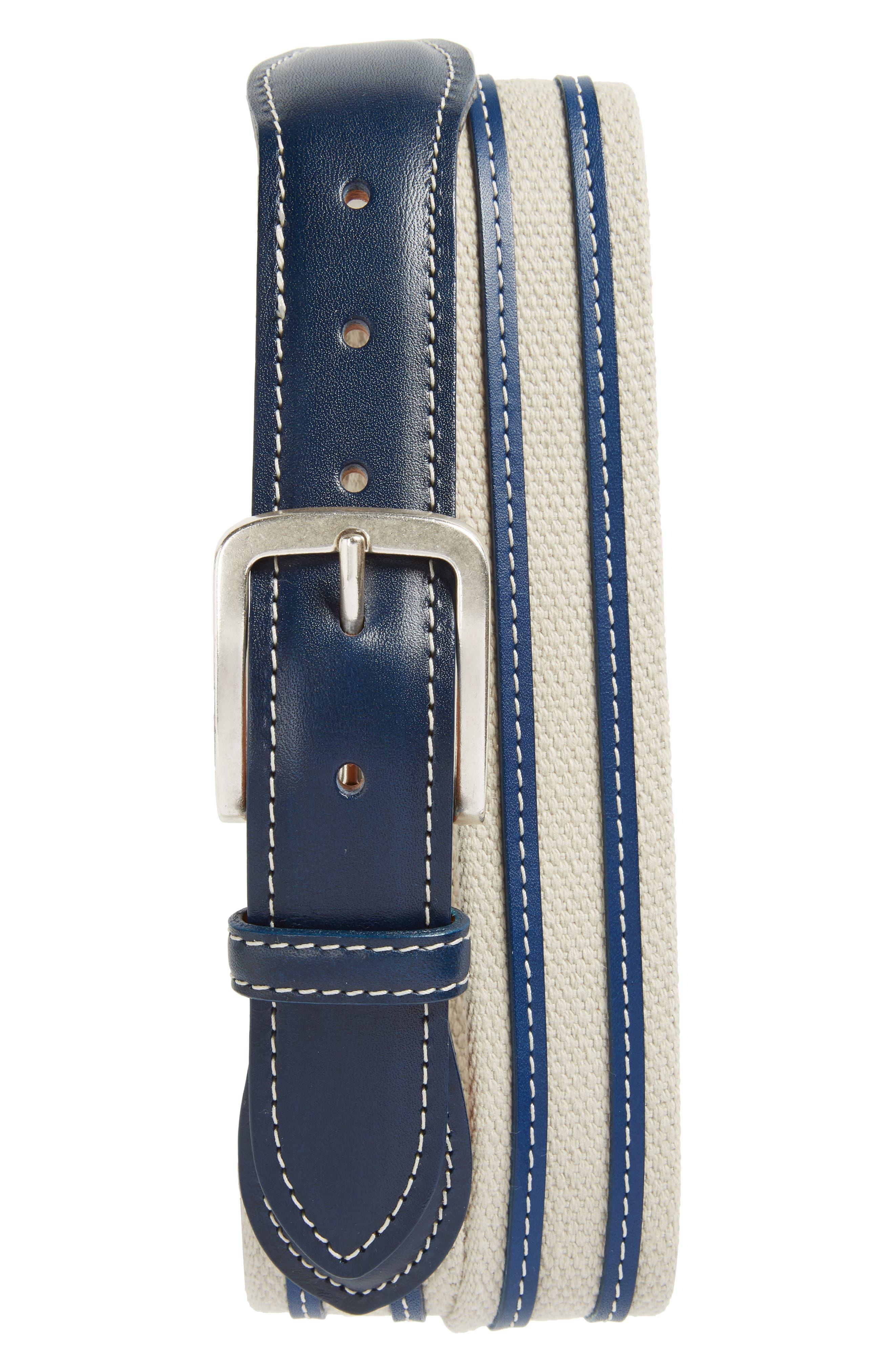 Allen Edmonds Canvas Strap Belt