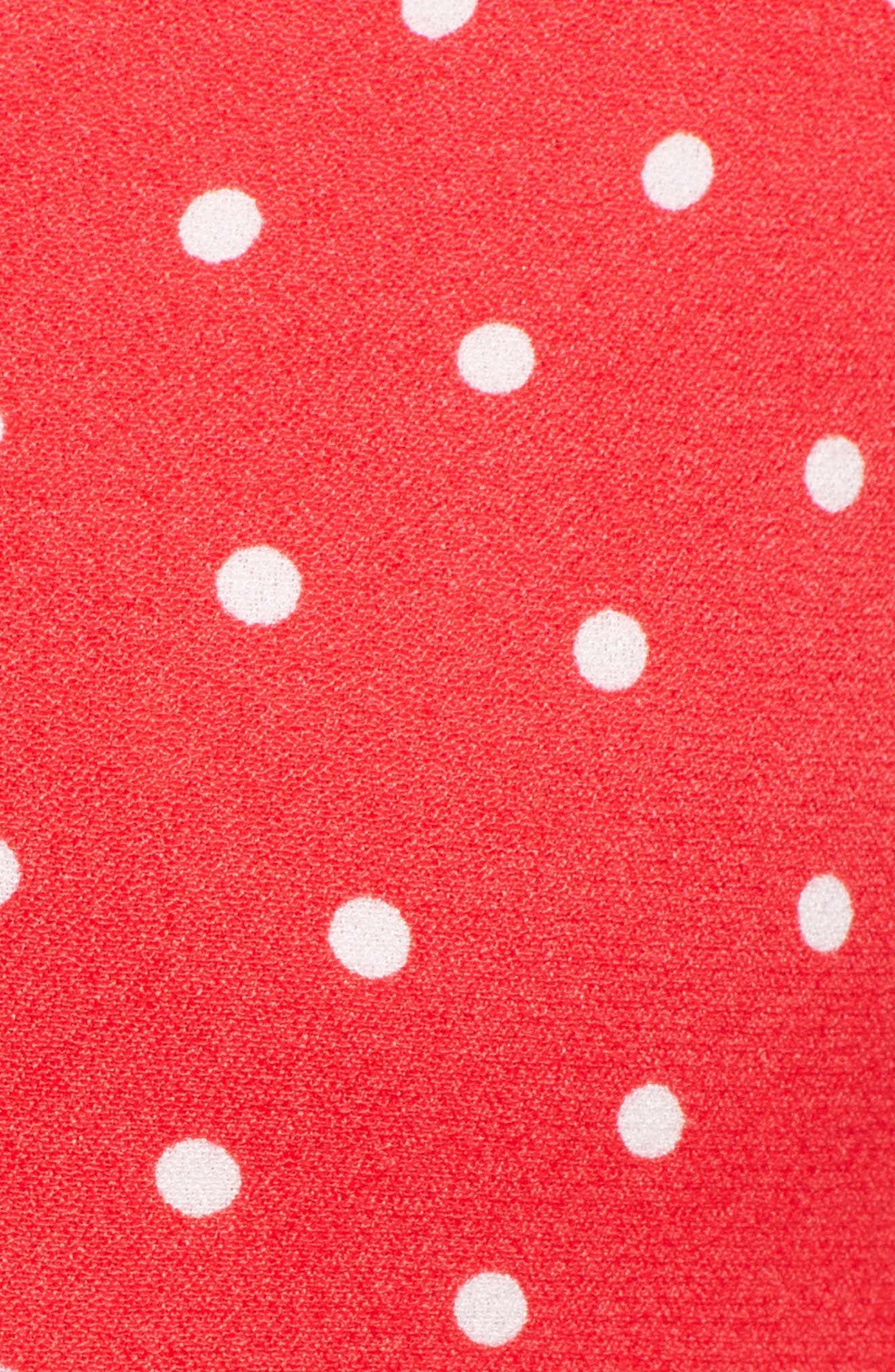 Kyla Crop Top,                             Alternate thumbnail 5, color,                             Red Polka Dot