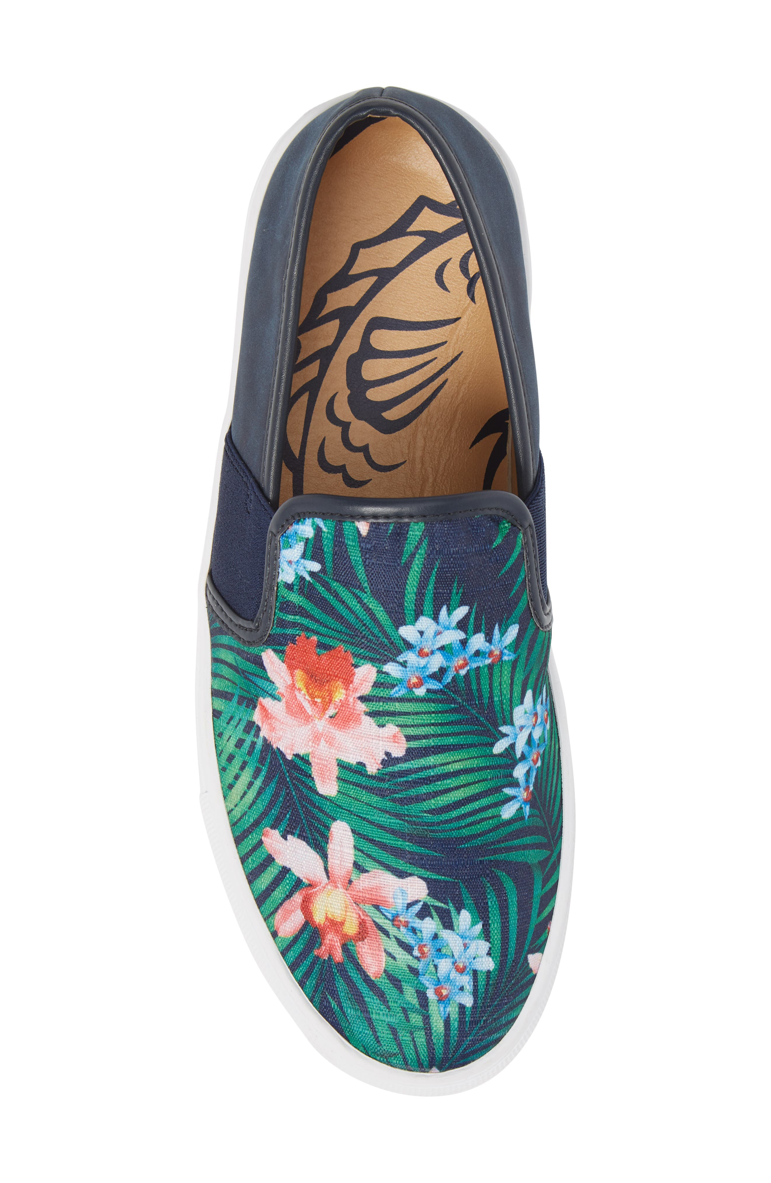 Fish 'N' Chips Bali Slip-On Sneaker,                             Alternate thumbnail 5, color,                             Navy Multi Fabric