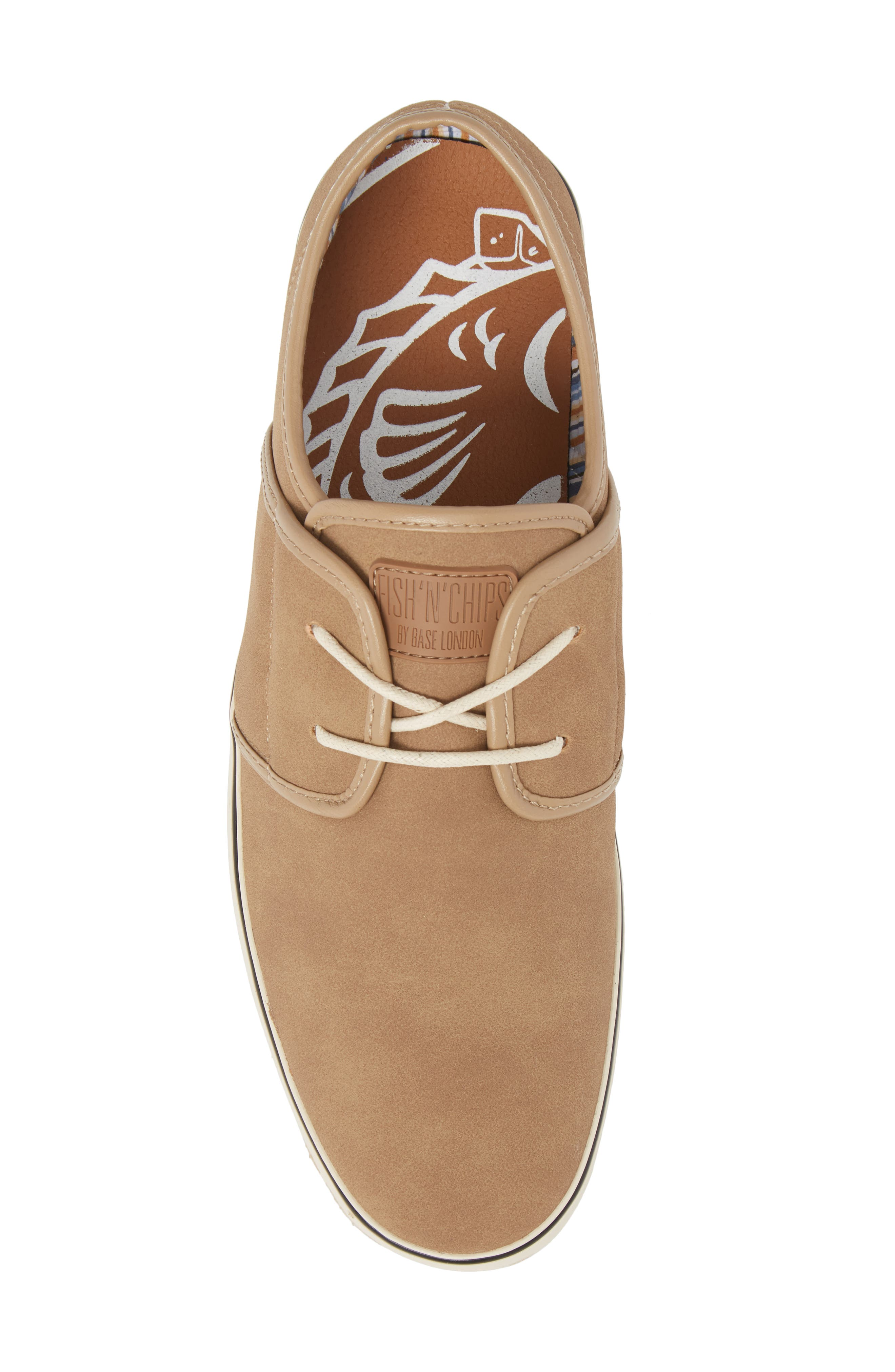 Fish 'N' Chips Surrey Low Top Sneaker,                             Alternate thumbnail 5, color,                             Soft Clay Faux Suede