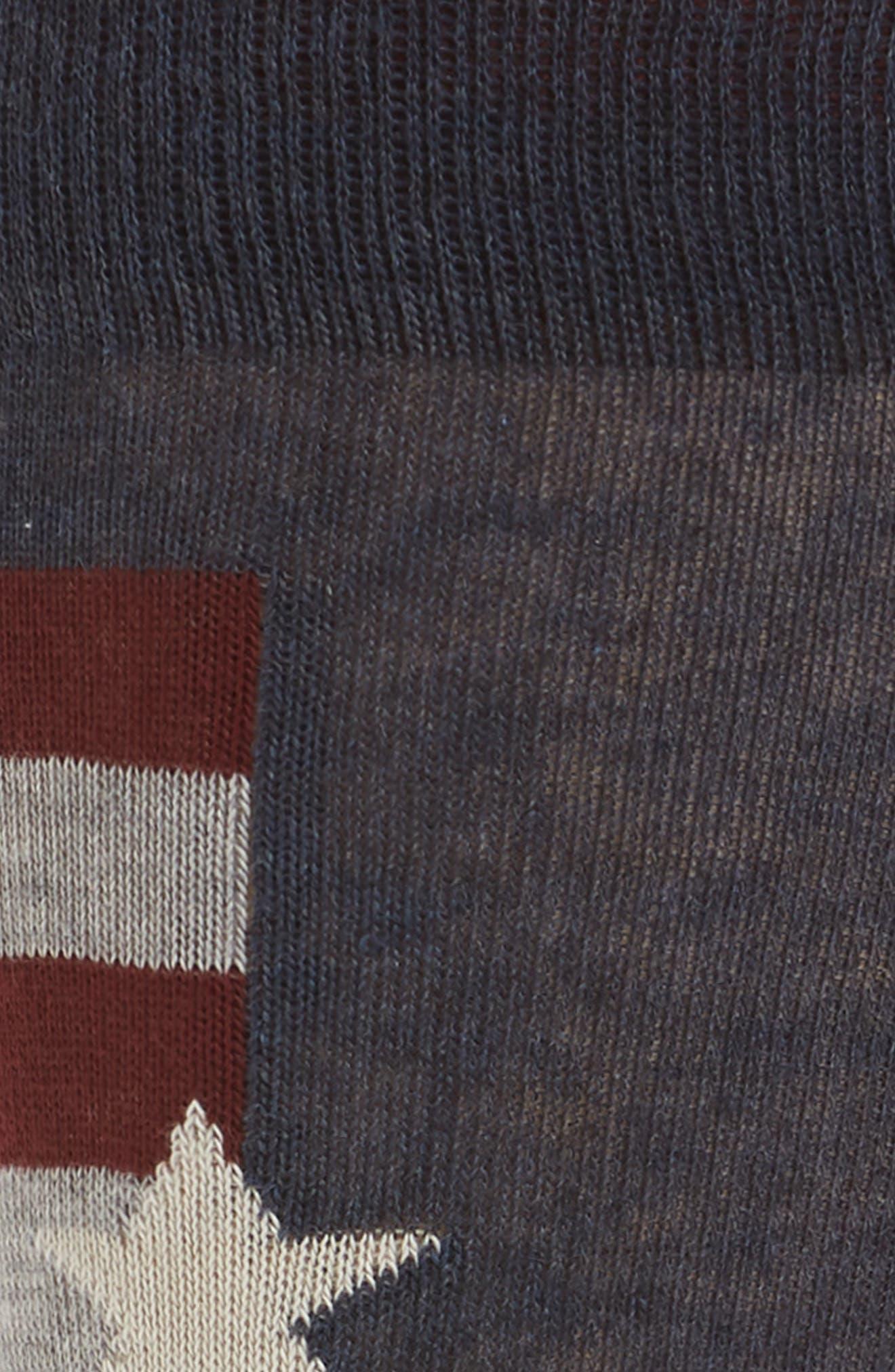 Stars and Stripes Socks,                             Alternate thumbnail 2, color,                             Denim