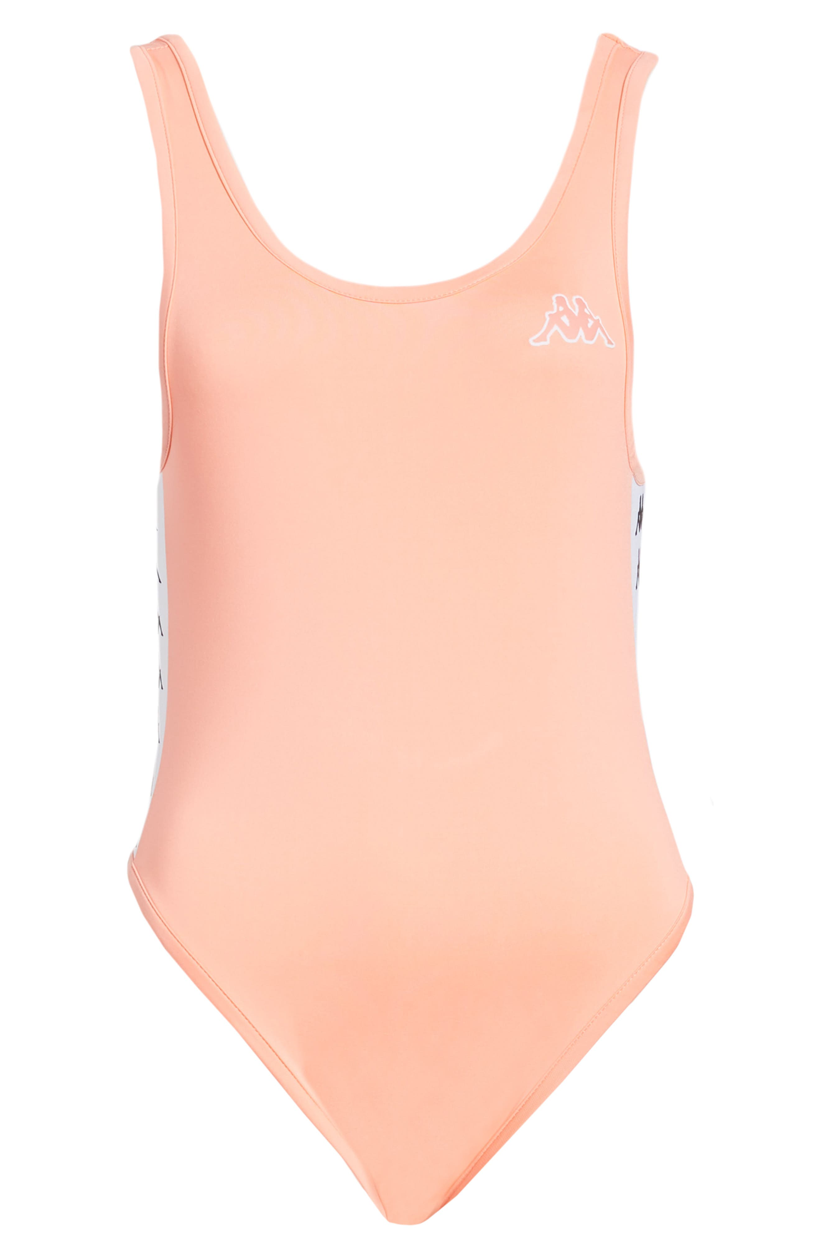 Banda Bodysuit,                             Alternate thumbnail 7, color,                             Pink Dk. Peach-White