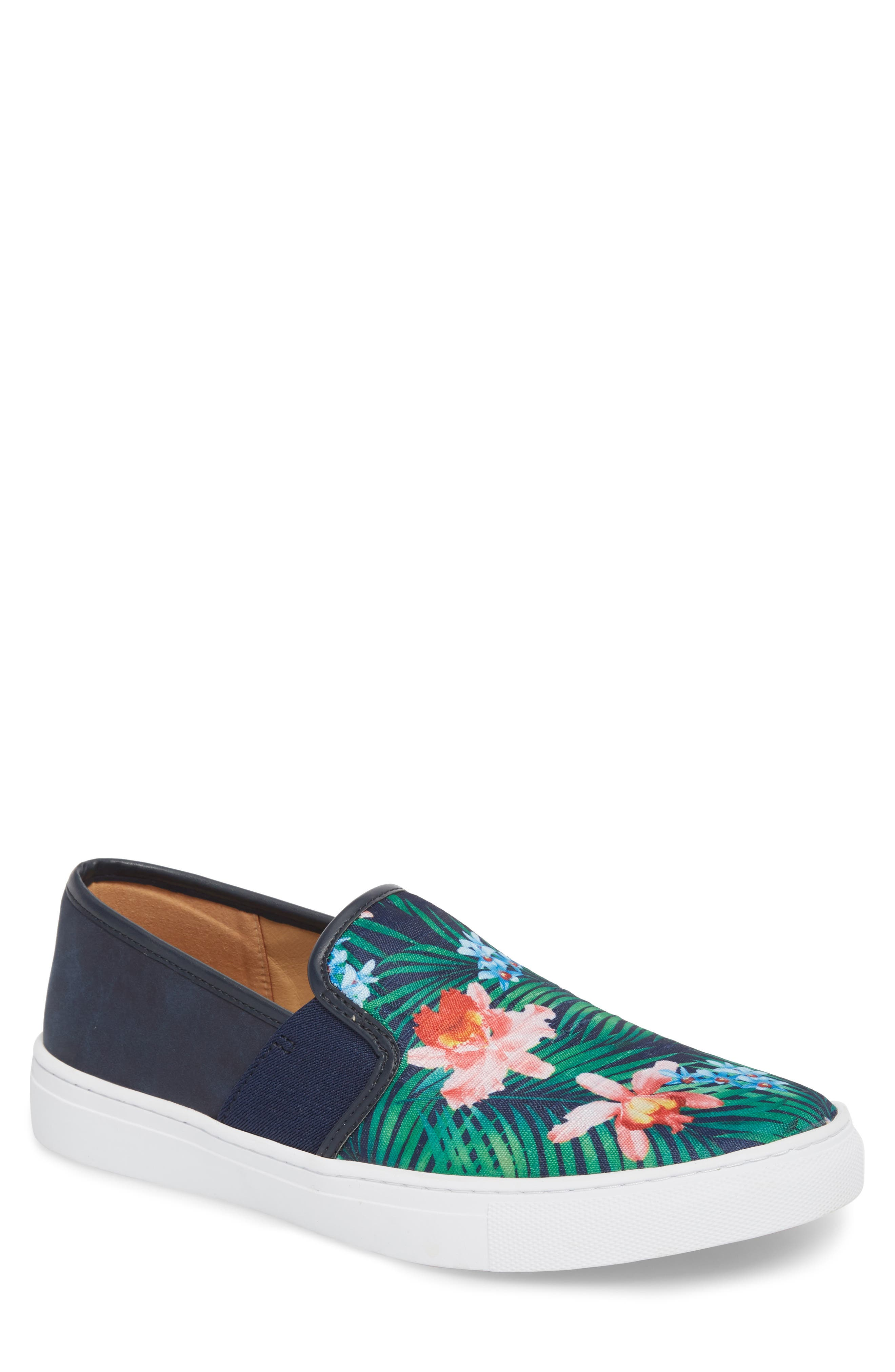 Fish 'N' Chips Bali Slip-On Sneaker,                         Main,                         color, Navy Multi Fabric