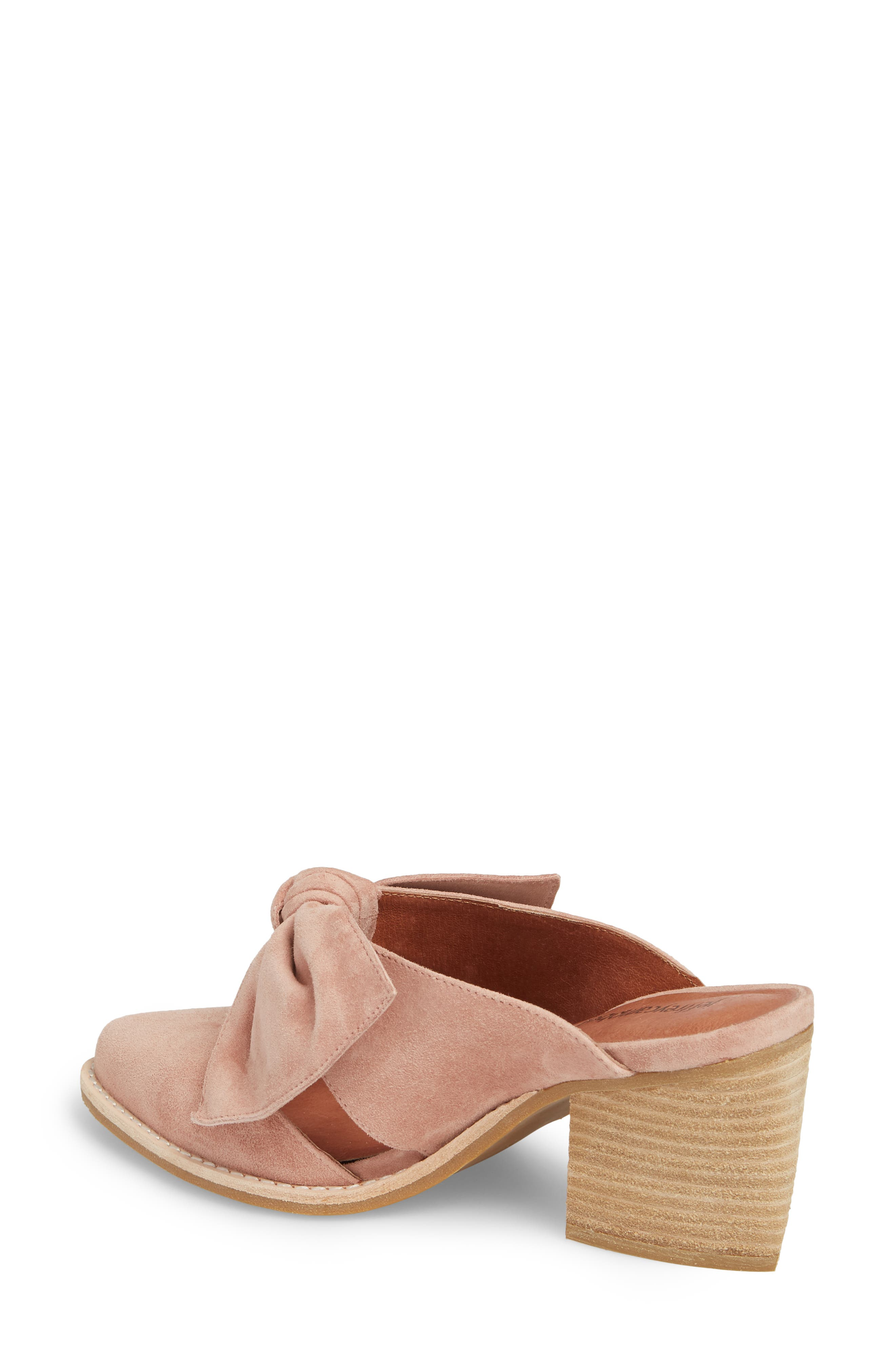 Cyrus Knotted Mary Jane Mule,                             Alternate thumbnail 2, color,                             Blush Suede
