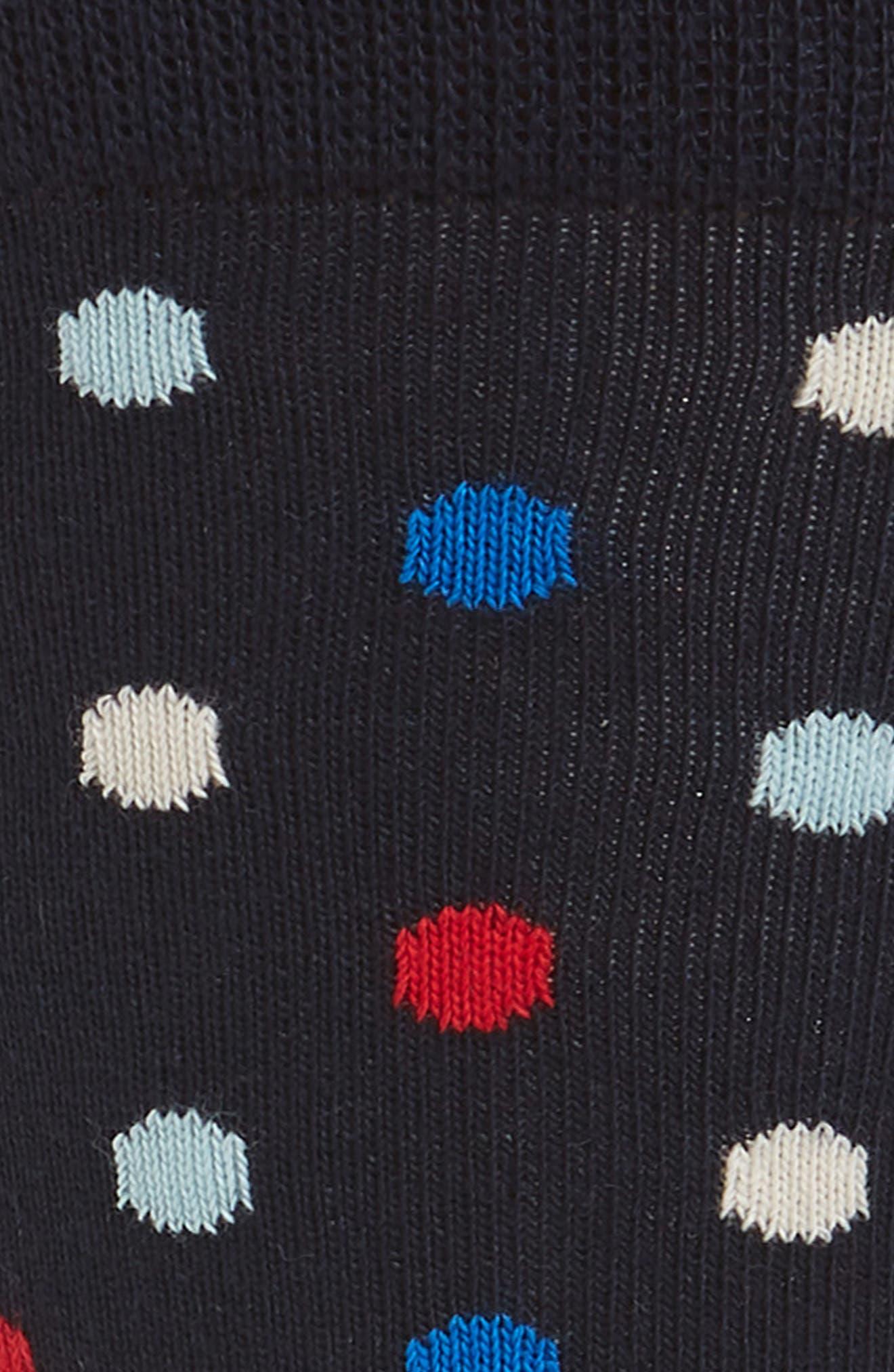 Polka Dot Socks,                             Alternate thumbnail 2, color,                             Navy Multi
