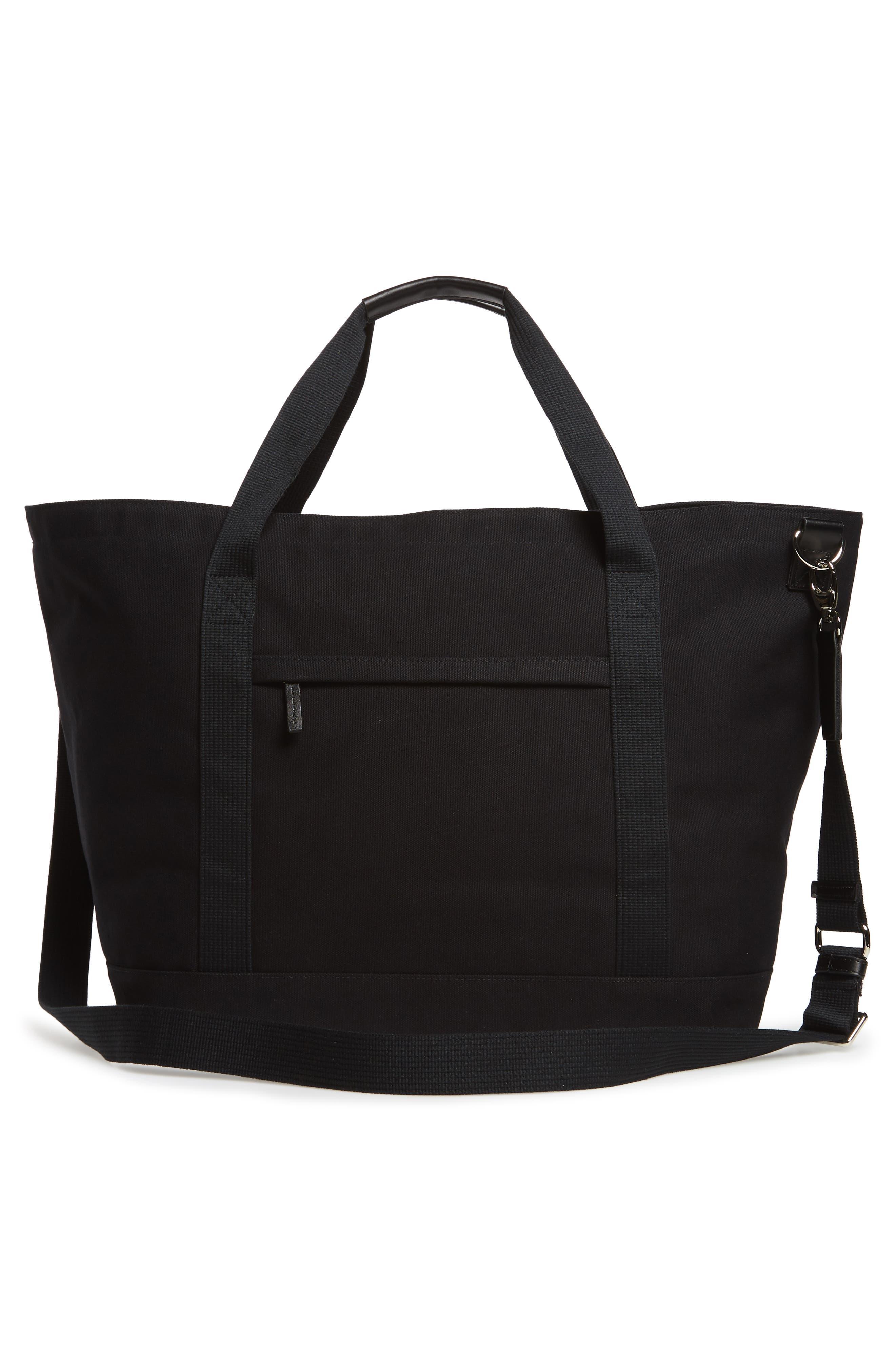 Weekend Water Repellent Tote Bag,                             Alternate thumbnail 3, color,                             Black