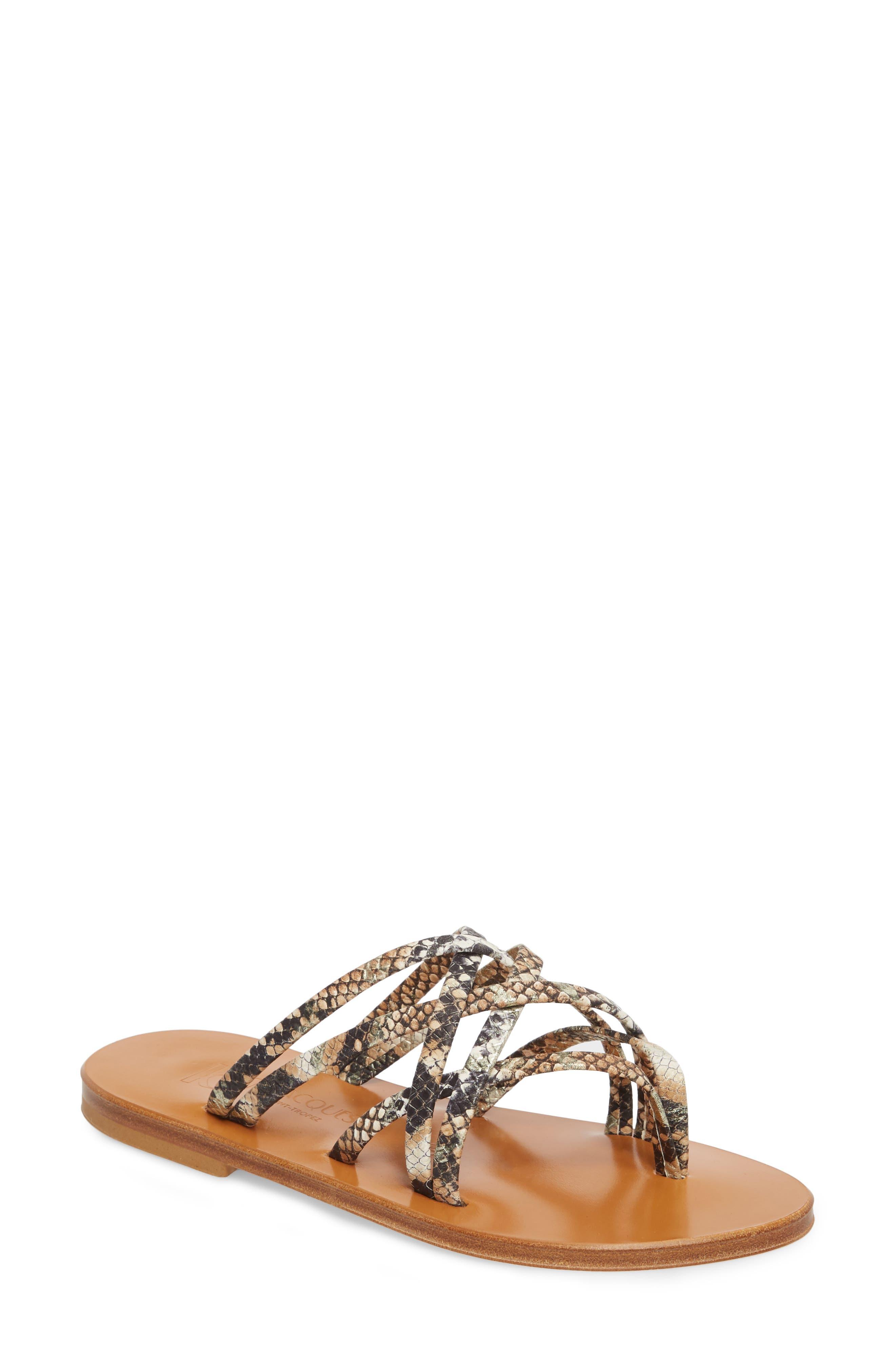 K. Jacques St. Tropez Strappy Thong Sandal,                         Main,                         color, Hawai Arce