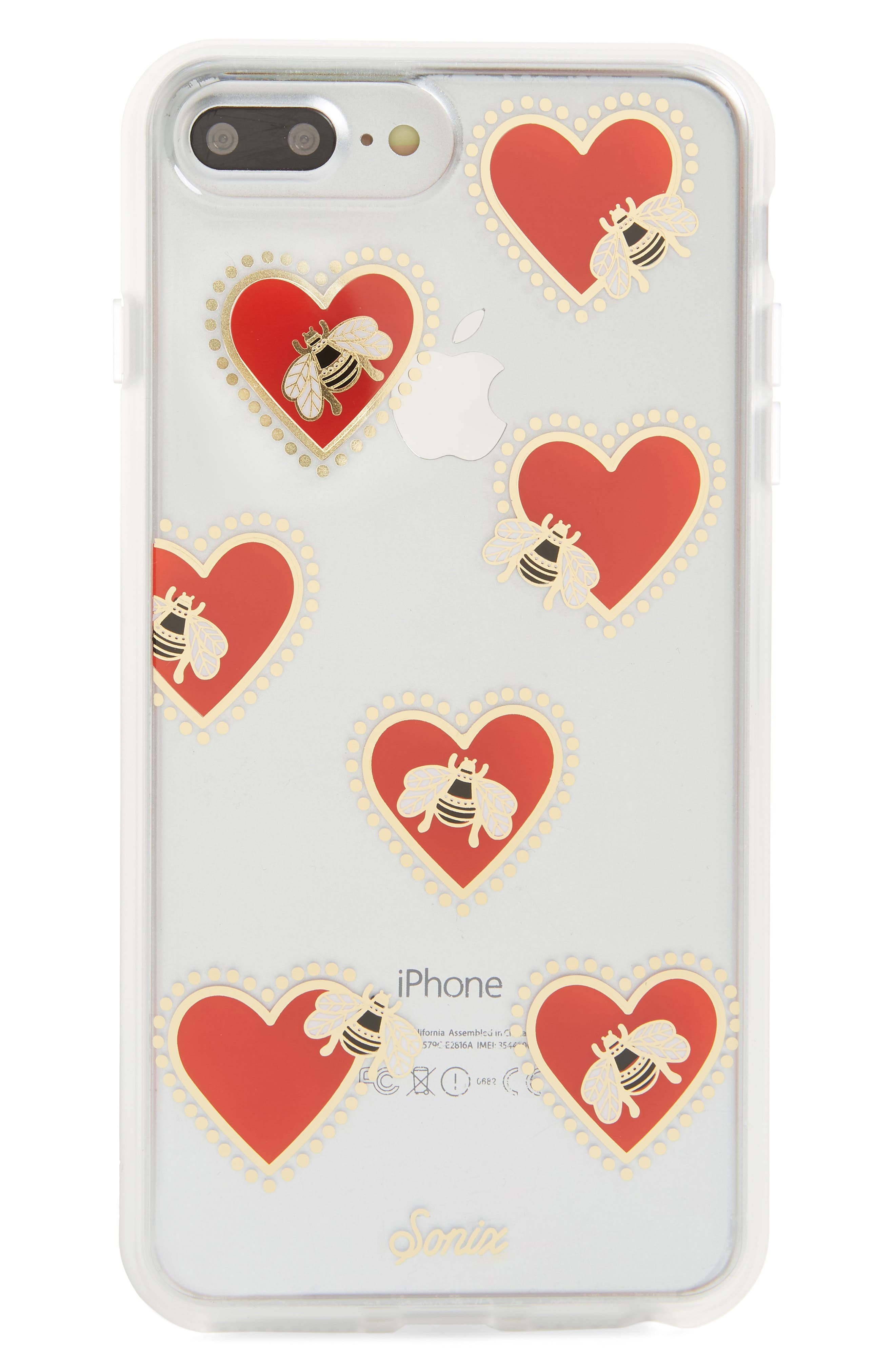 Bee Still iPhone 7/8 & 7/8 Plus Case,                             Main thumbnail 1, color,                             Clear/ Multi