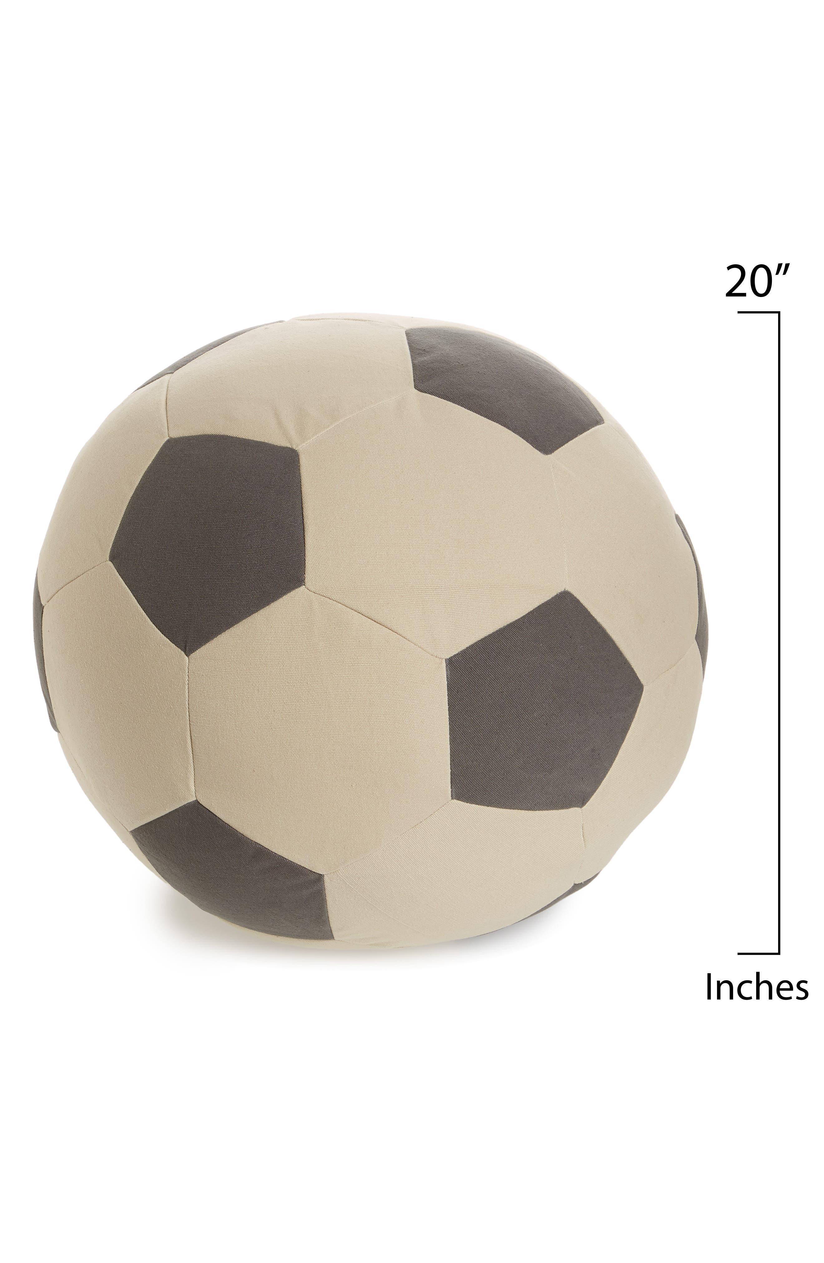 Soccer Pouf,                             Alternate thumbnail 2, color,                             Black