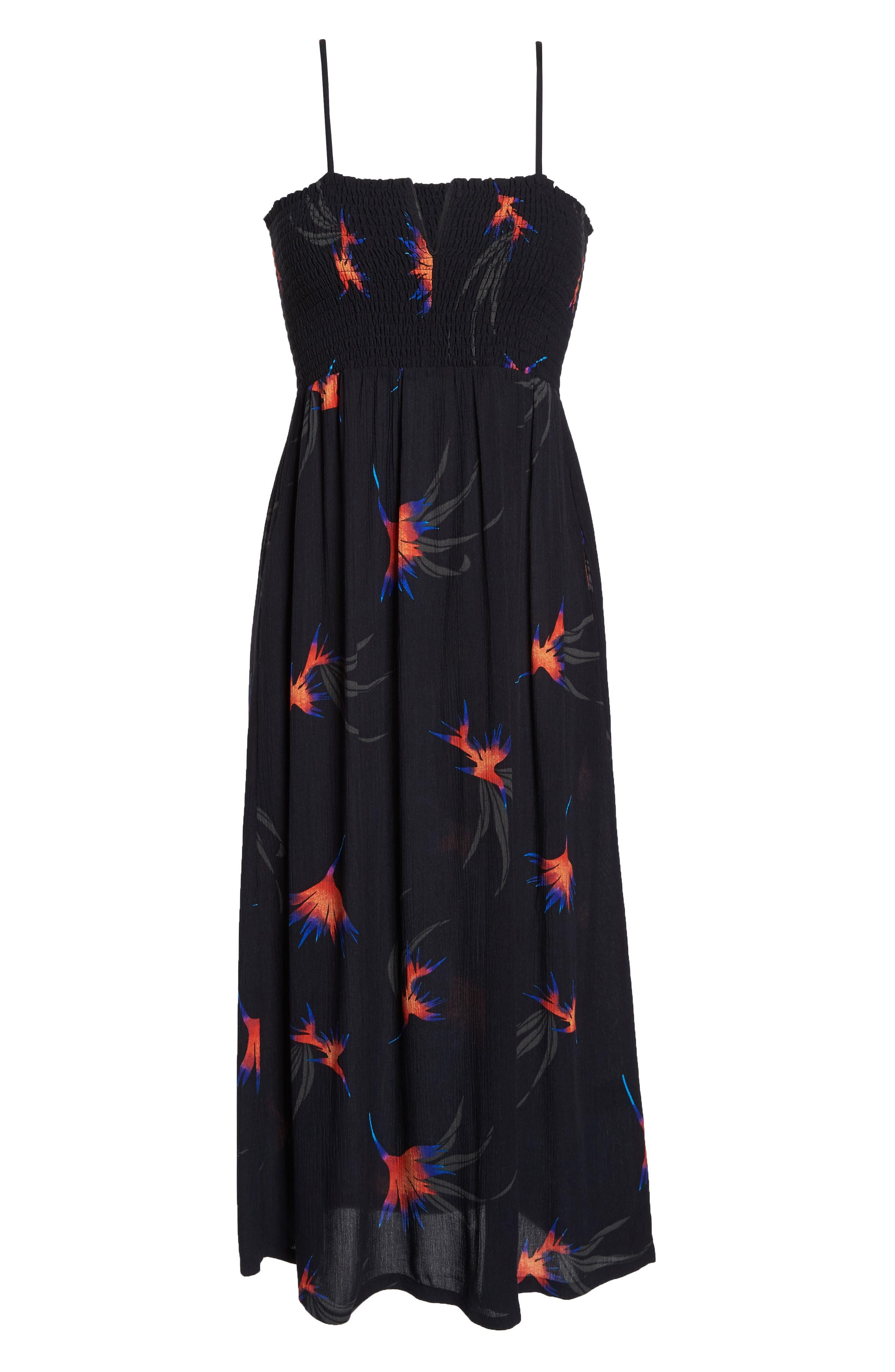 Sydney Midi Dress,                             Alternate thumbnail 7, color,                             Black Paradise City Print