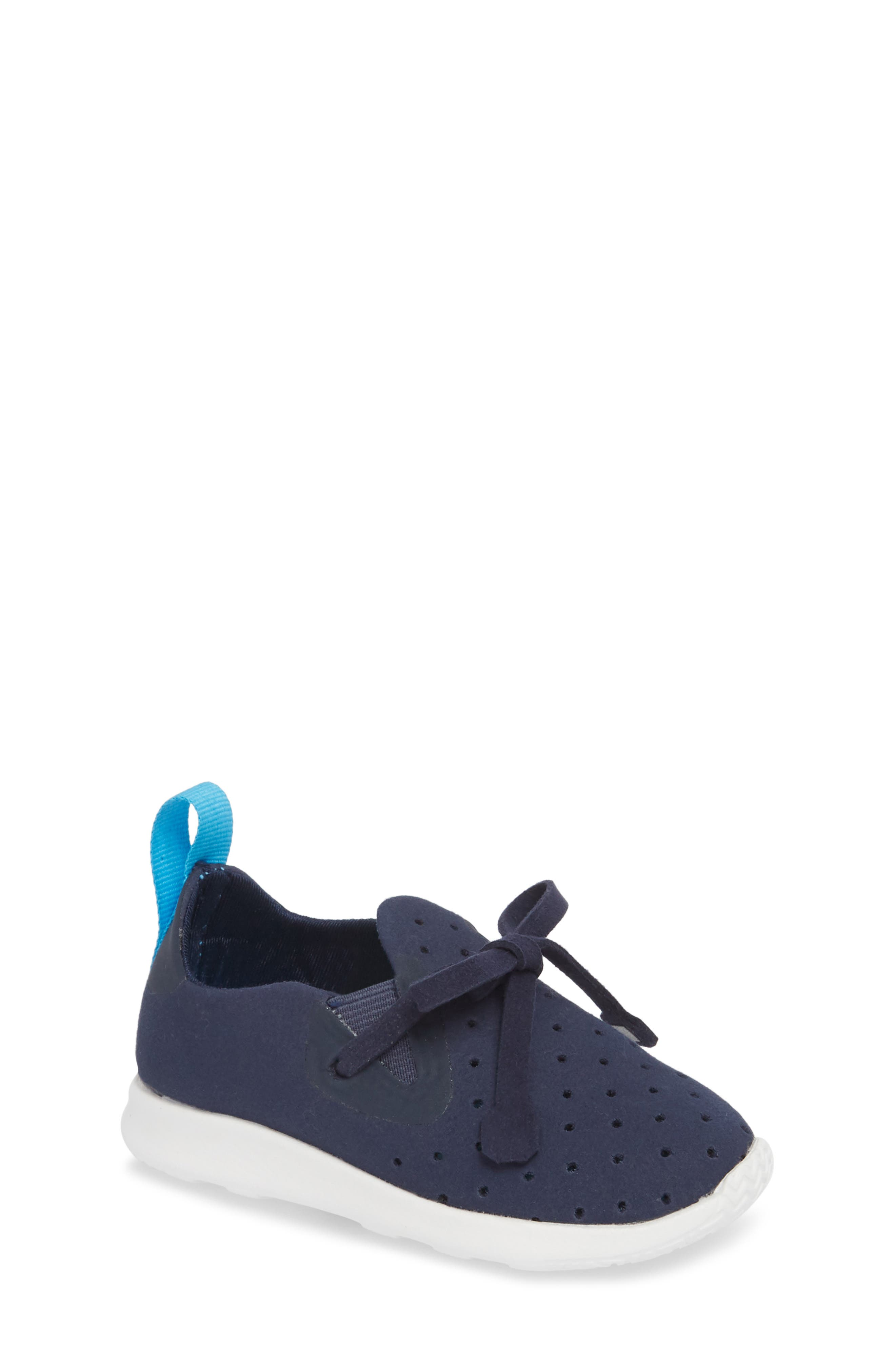 AP Moc Perforated Washable Sneaker,                         Main,                         color, Regatta Blue/ Shell White