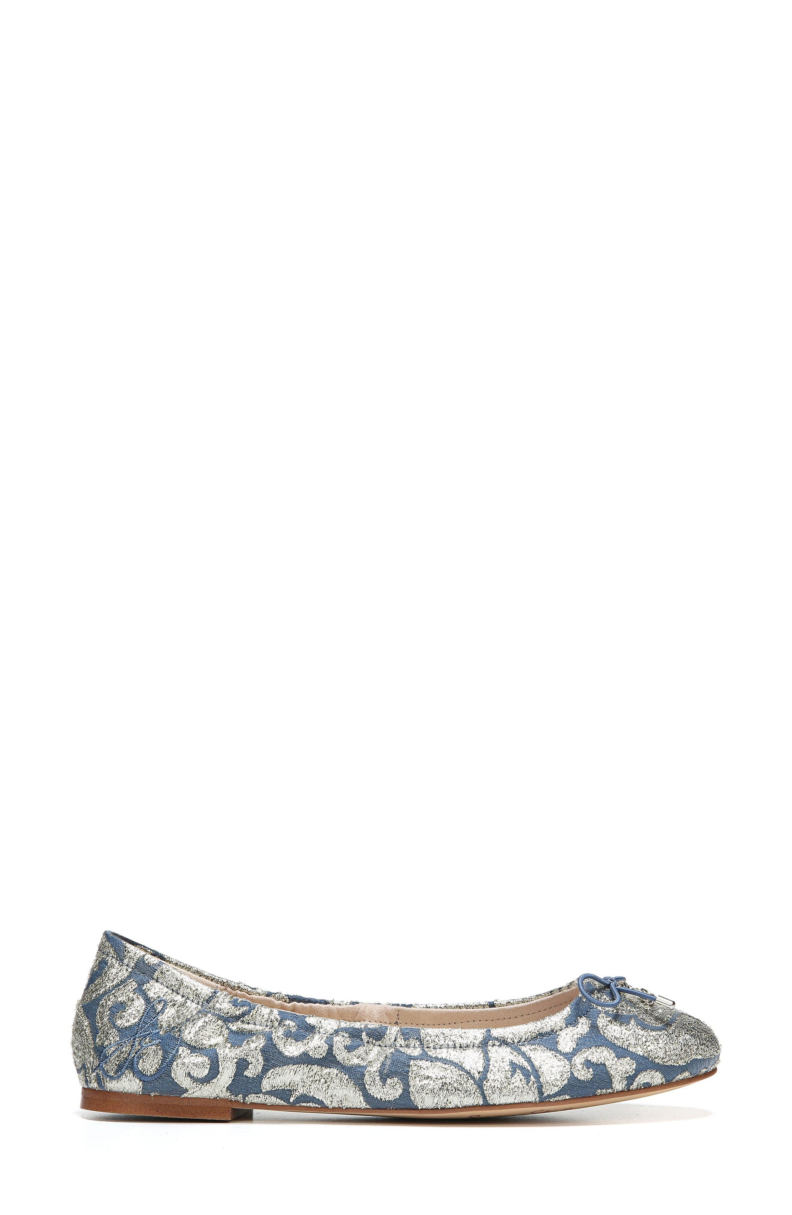 Felicia Flat,                             Alternate thumbnail 3, color,                             Blue Multi Canvas