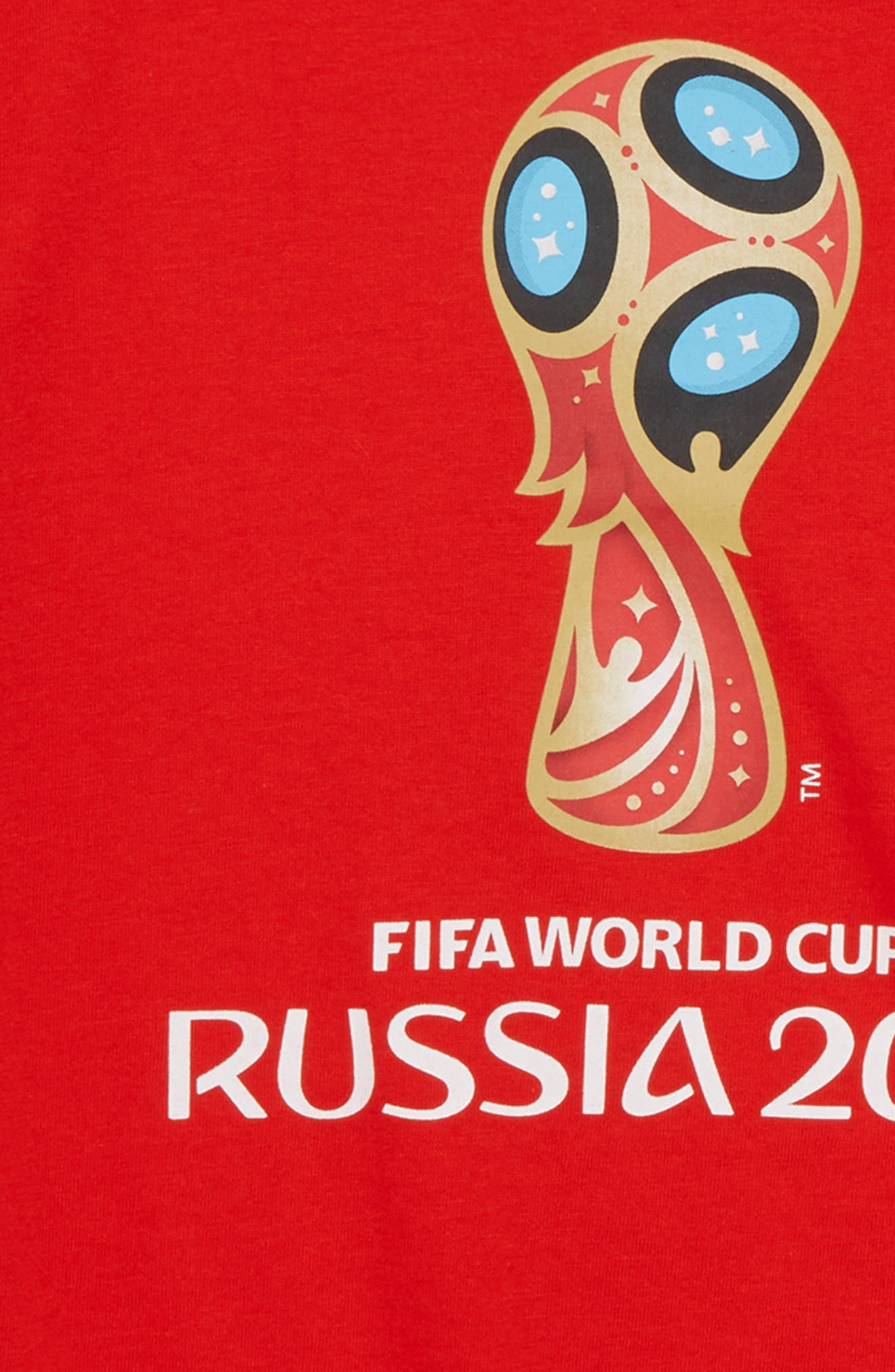 2018 FIFA World Cup Russia Soccer T-Shirt,                             Alternate thumbnail 2, color,                             Red