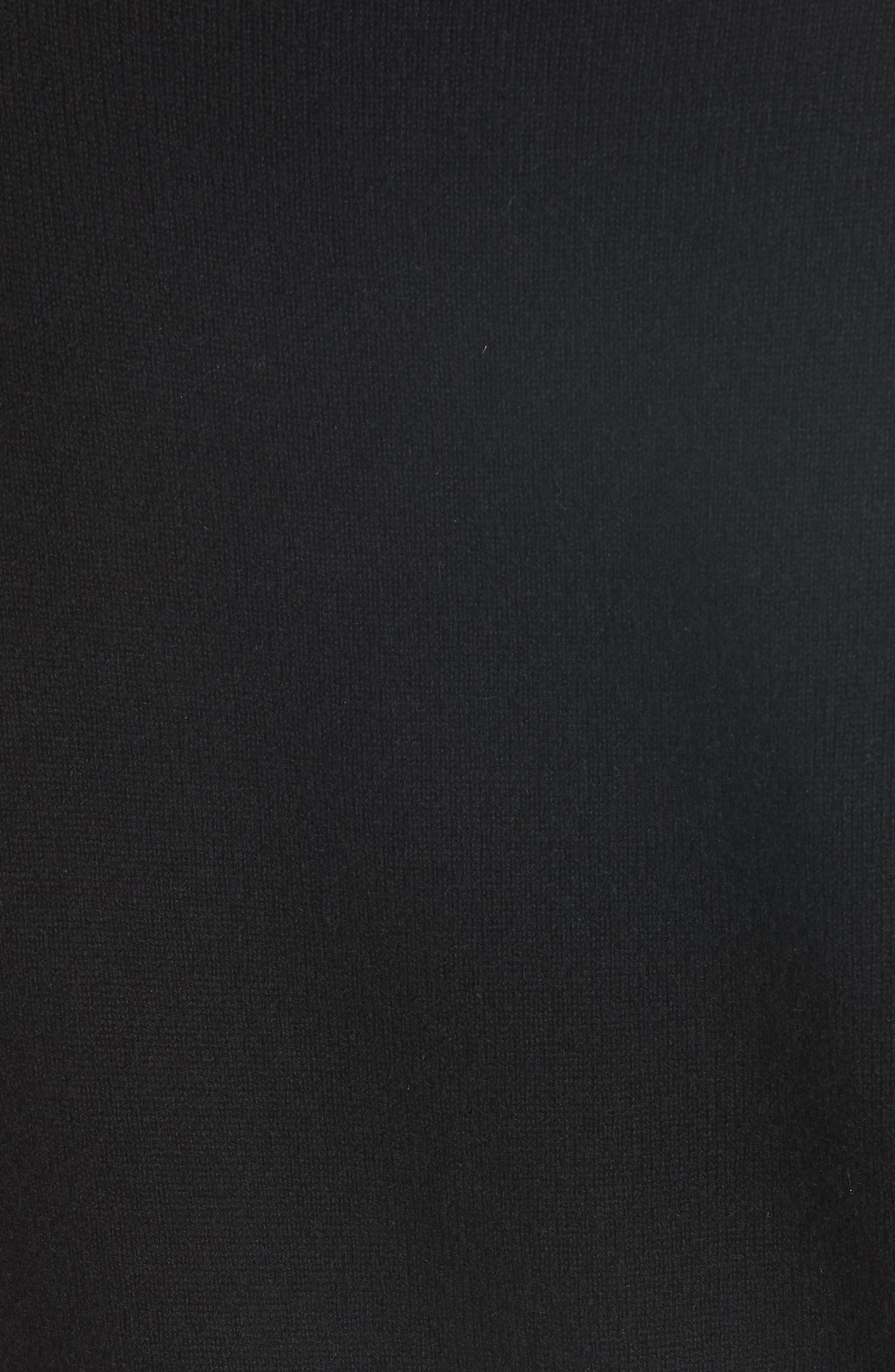Mar Cashmere Sweater,                             Alternate thumbnail 5, color,                             Black