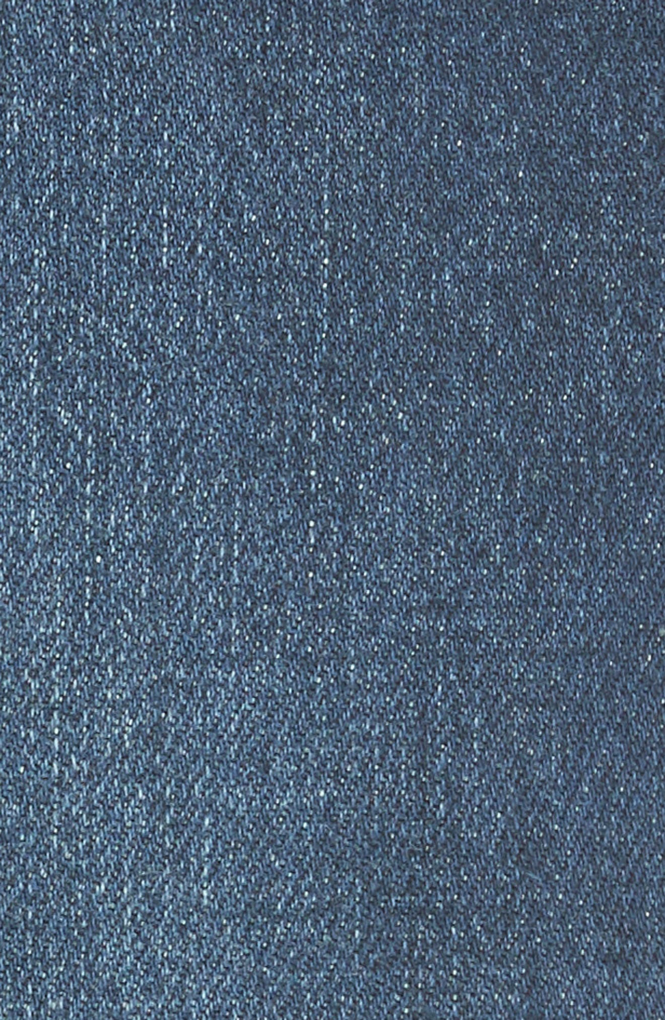 Le High Straight Asymmetrical Hem Jeans,                             Alternate thumbnail 6, color,                             Kingsway