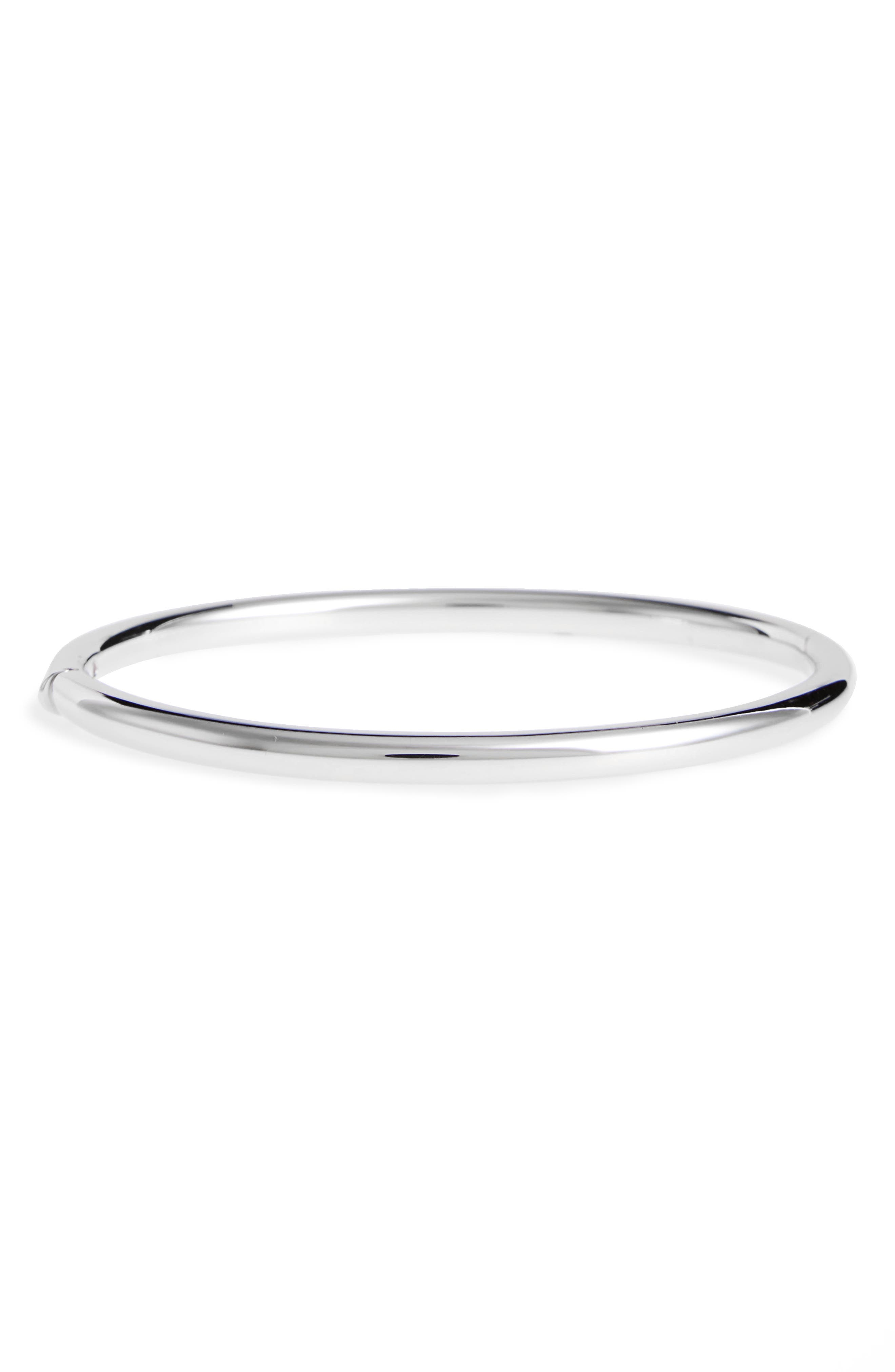 ROBERTO COIN 18K Gold Bangle Bracelet in White Gold