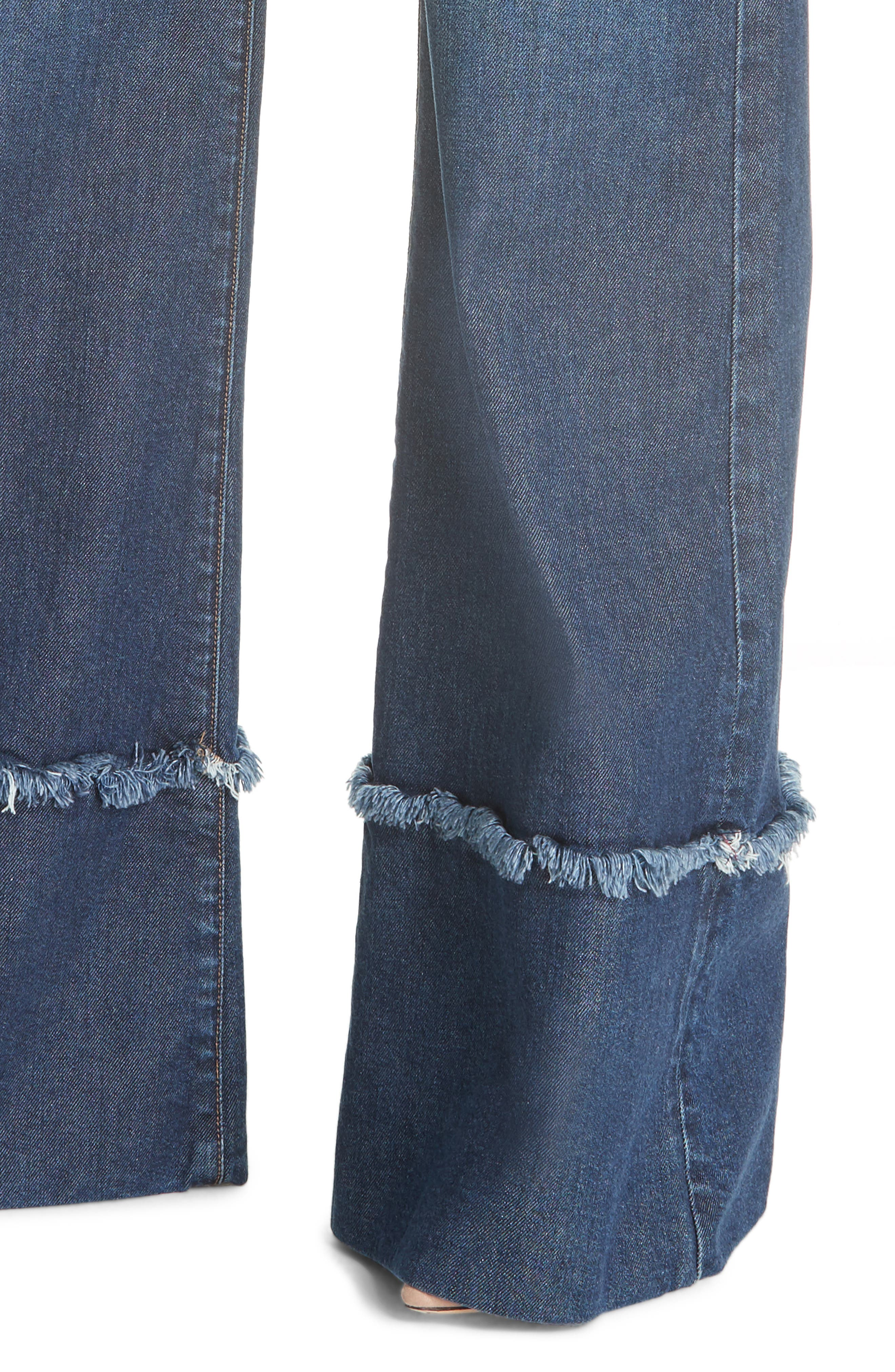 Gorgeous Flare Leg Jeans,                             Alternate thumbnail 4, color,                             So Clever