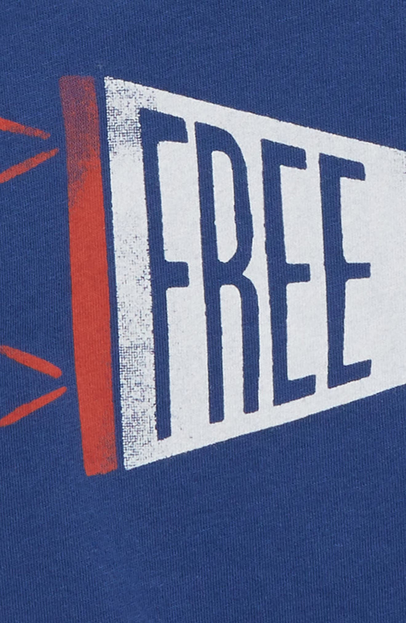 Free to Be T-Shirt,                             Alternate thumbnail 2, color,                             Navy