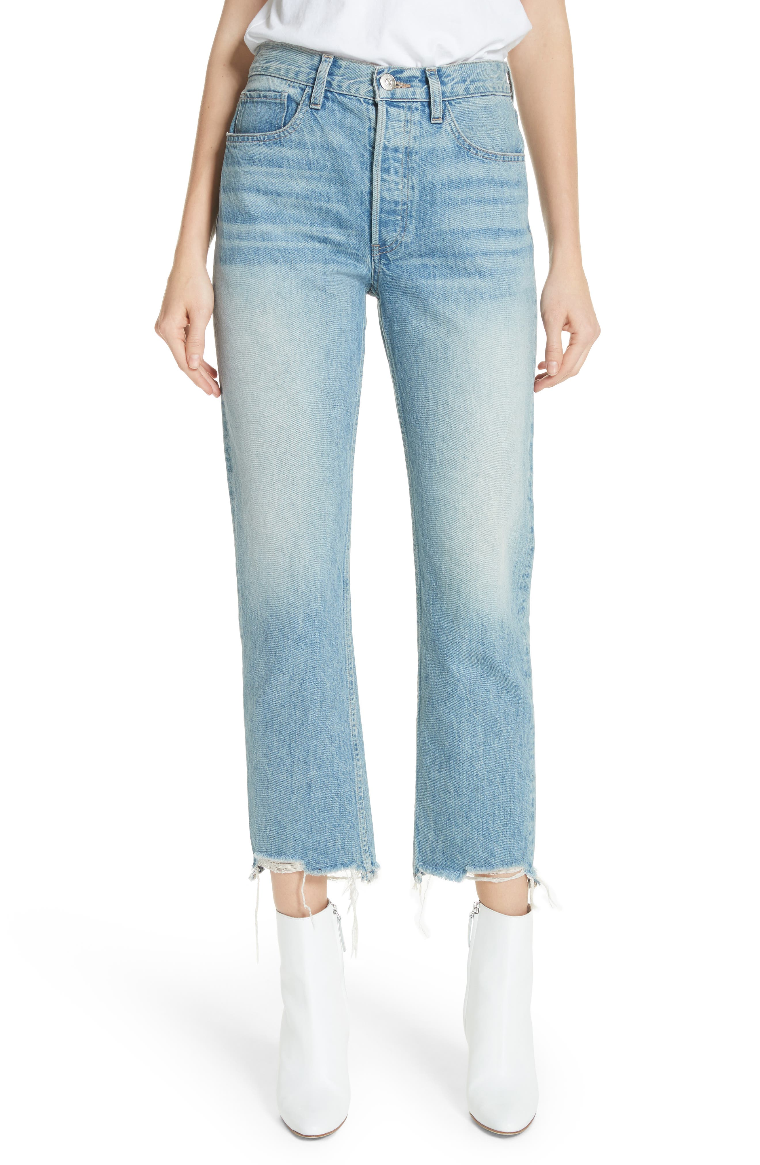 W3 Higher Ground Distressed Ankle Slim Fit Jeans,                         Main,                         color, Casey