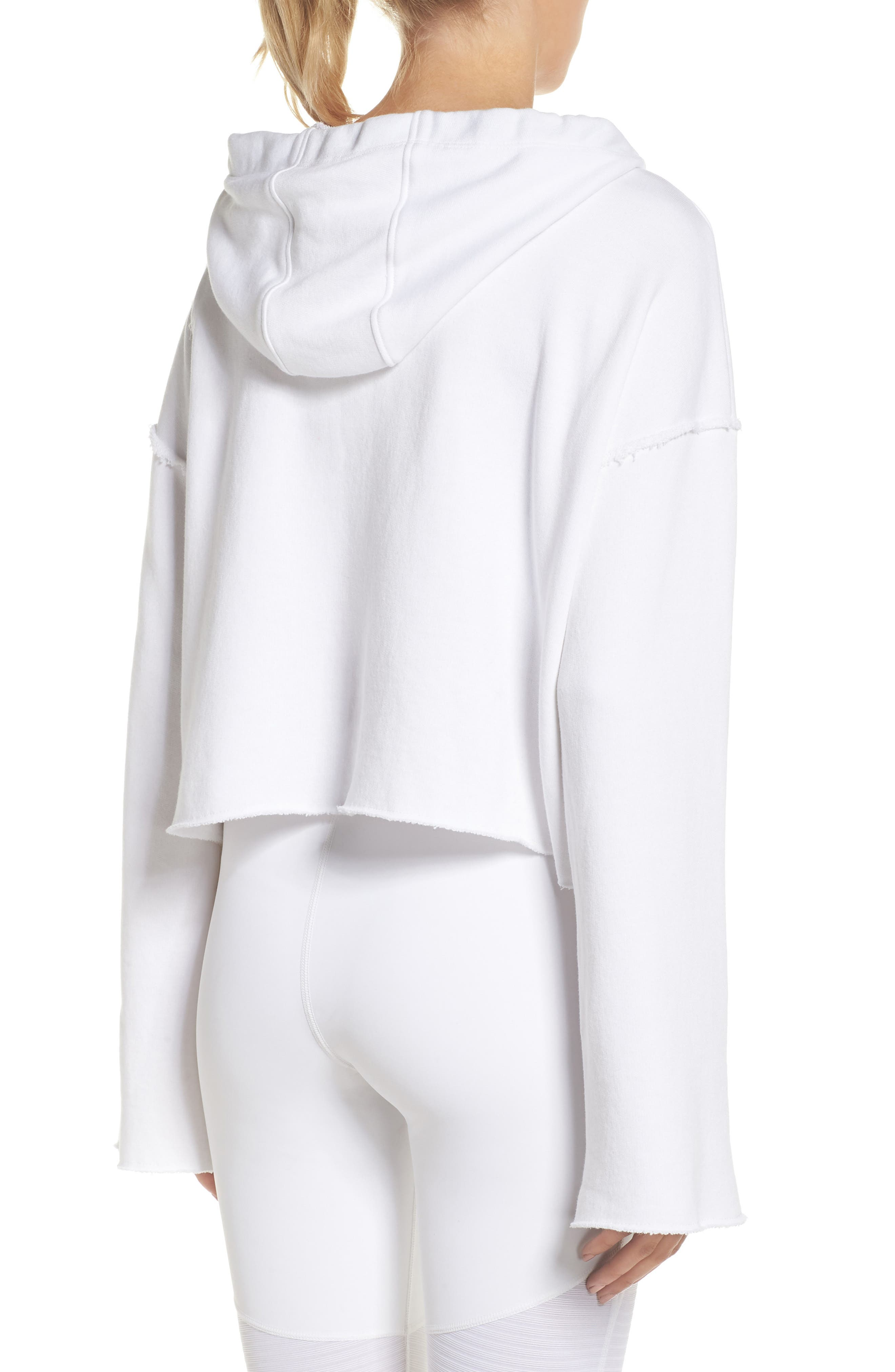 Stance Bell Sleeve Crop Hoodie,                             Alternate thumbnail 2, color,                             White