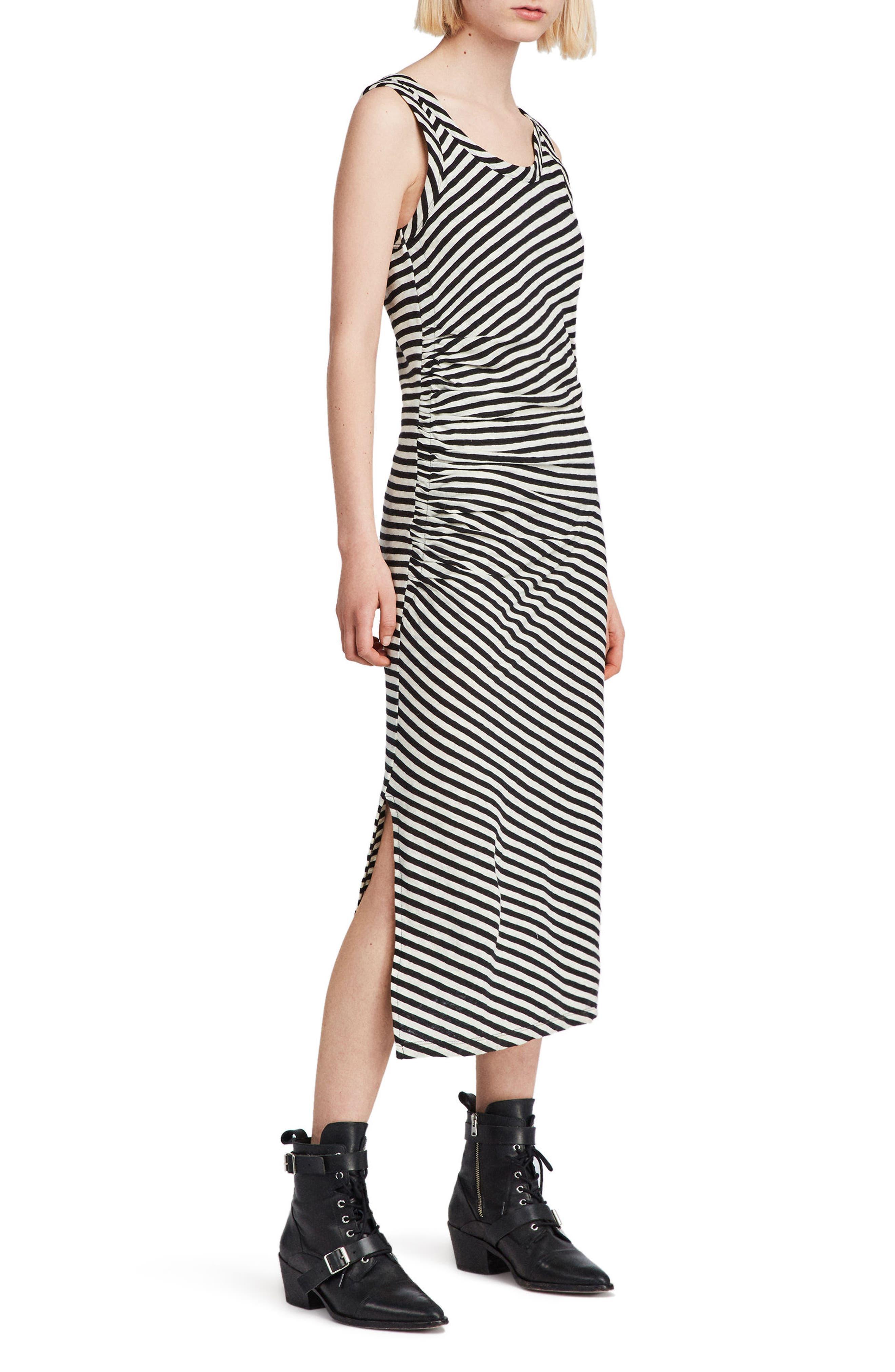 ALLSAINTS Tina Stripe Midi Dress