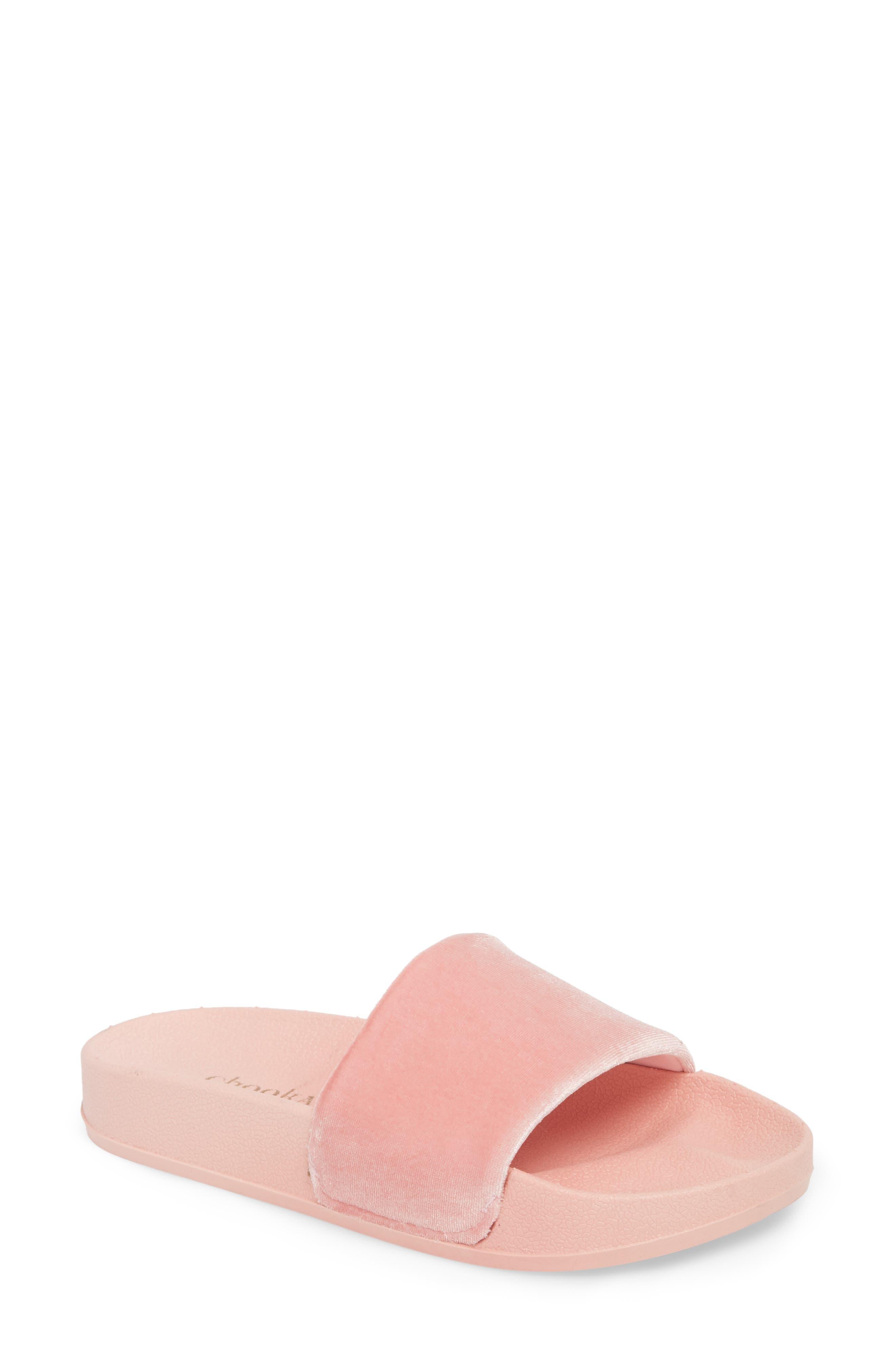Slide Sandal,                             Main thumbnail 1, color,                             Blush