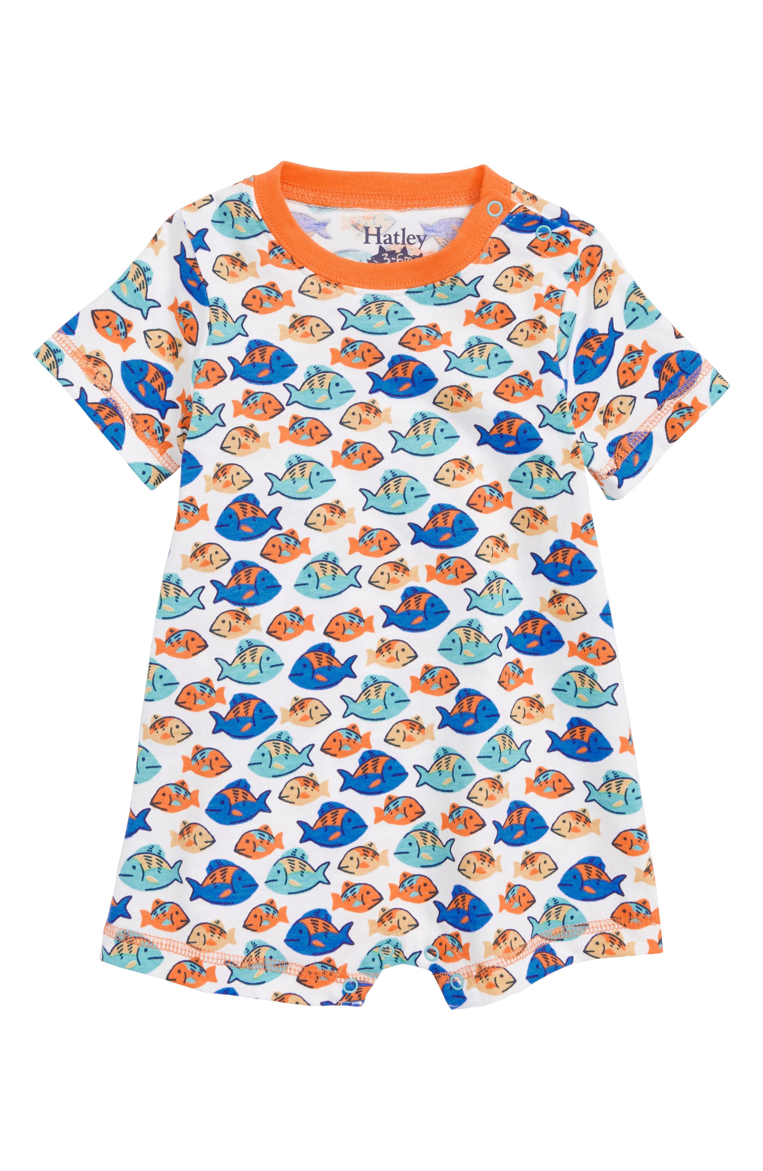 Hatley Fish Romper (Baby Boys)