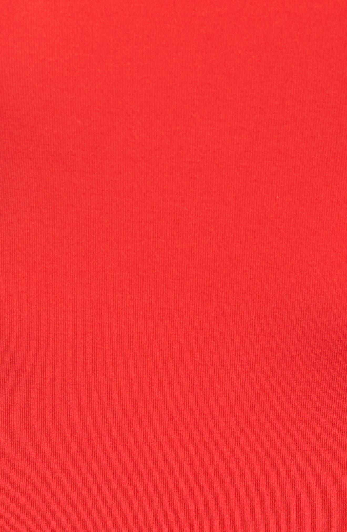 Neil Off the Shoulder Bodysuit,                             Alternate thumbnail 5, color,                             Red