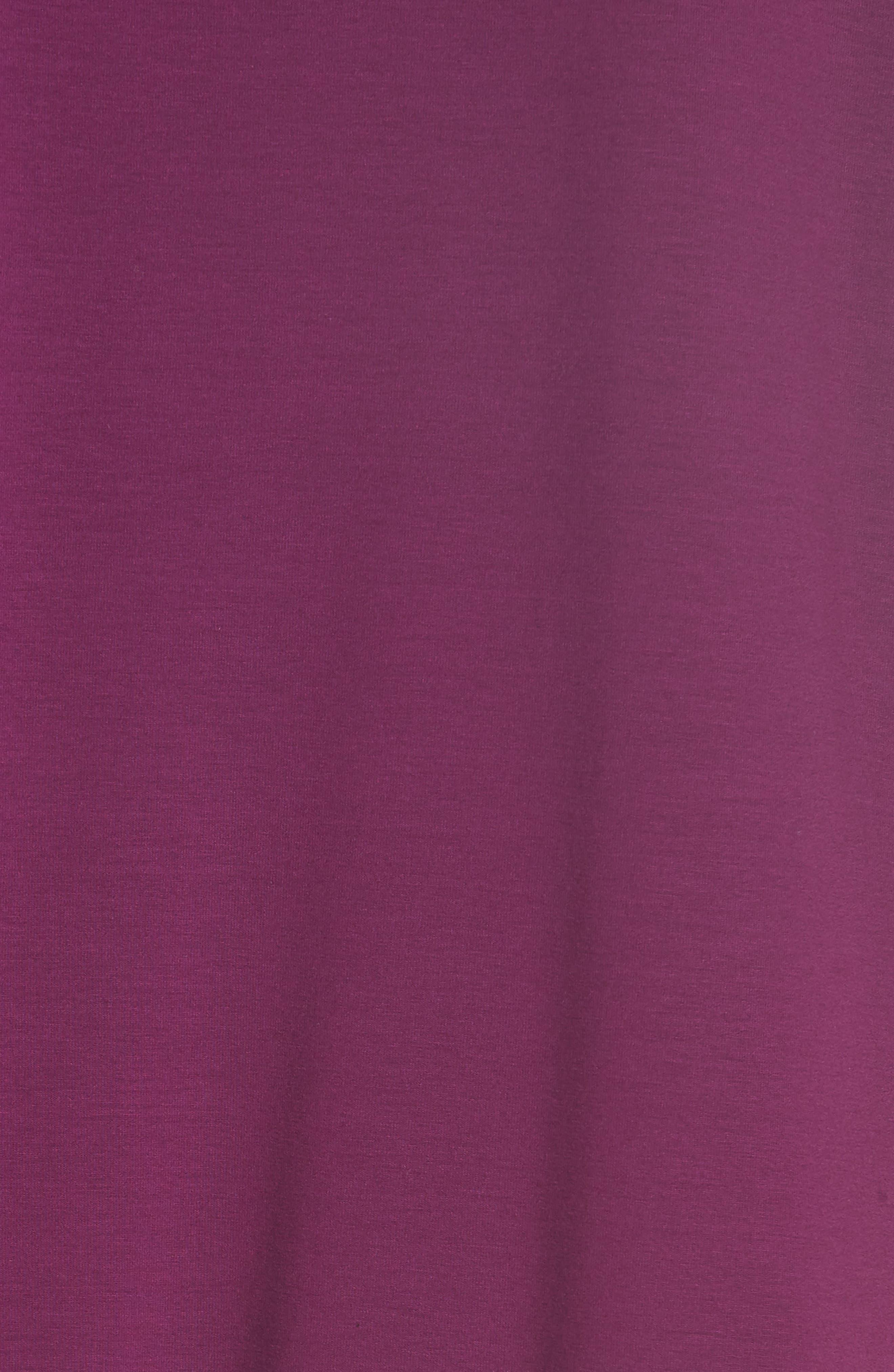 Asymmetrical Jersey Shift Dress,                             Alternate thumbnail 3, color,                             Boysenberry