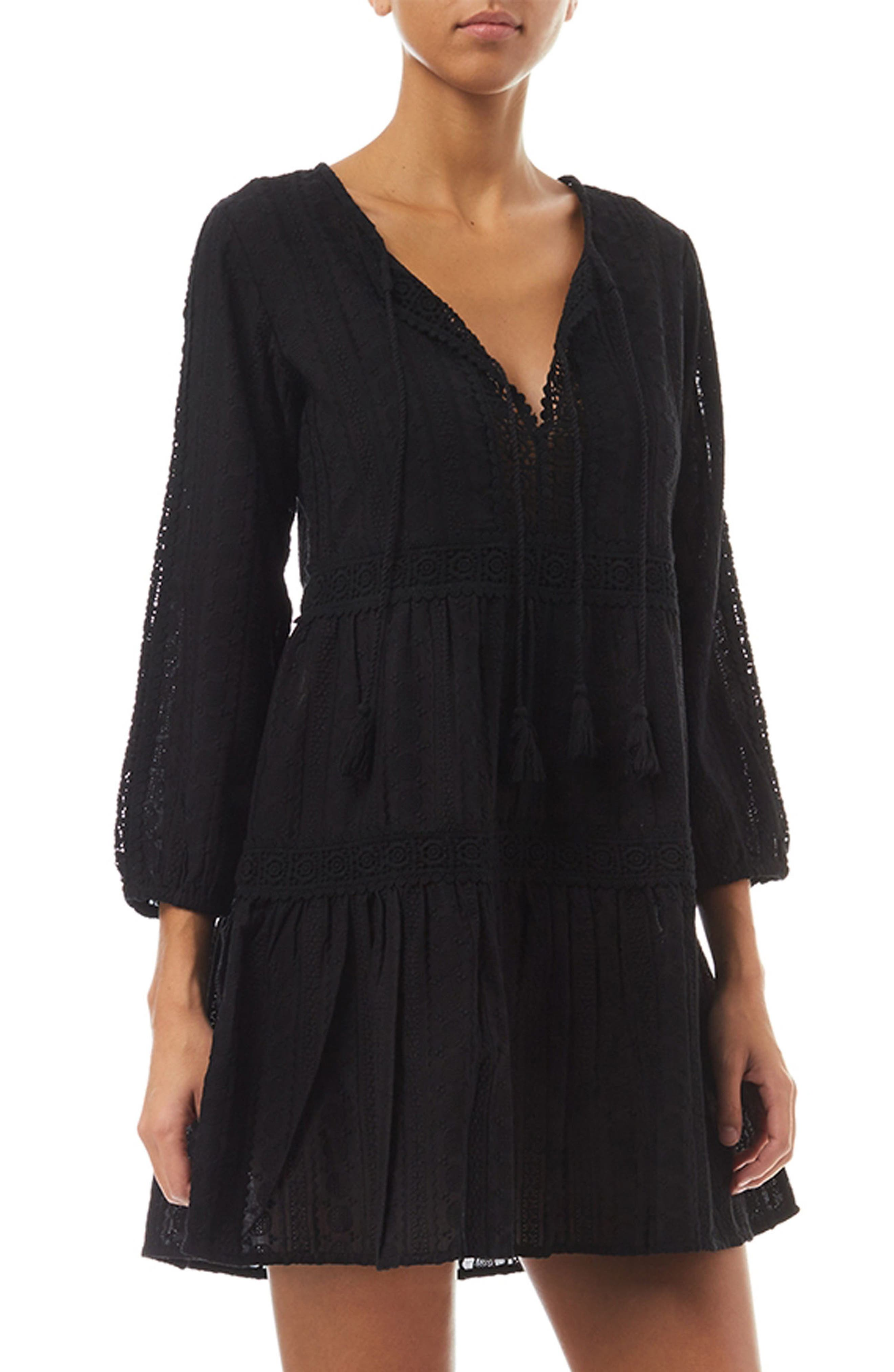 Reid Cover-Up Dress,                         Main,                         color, Black