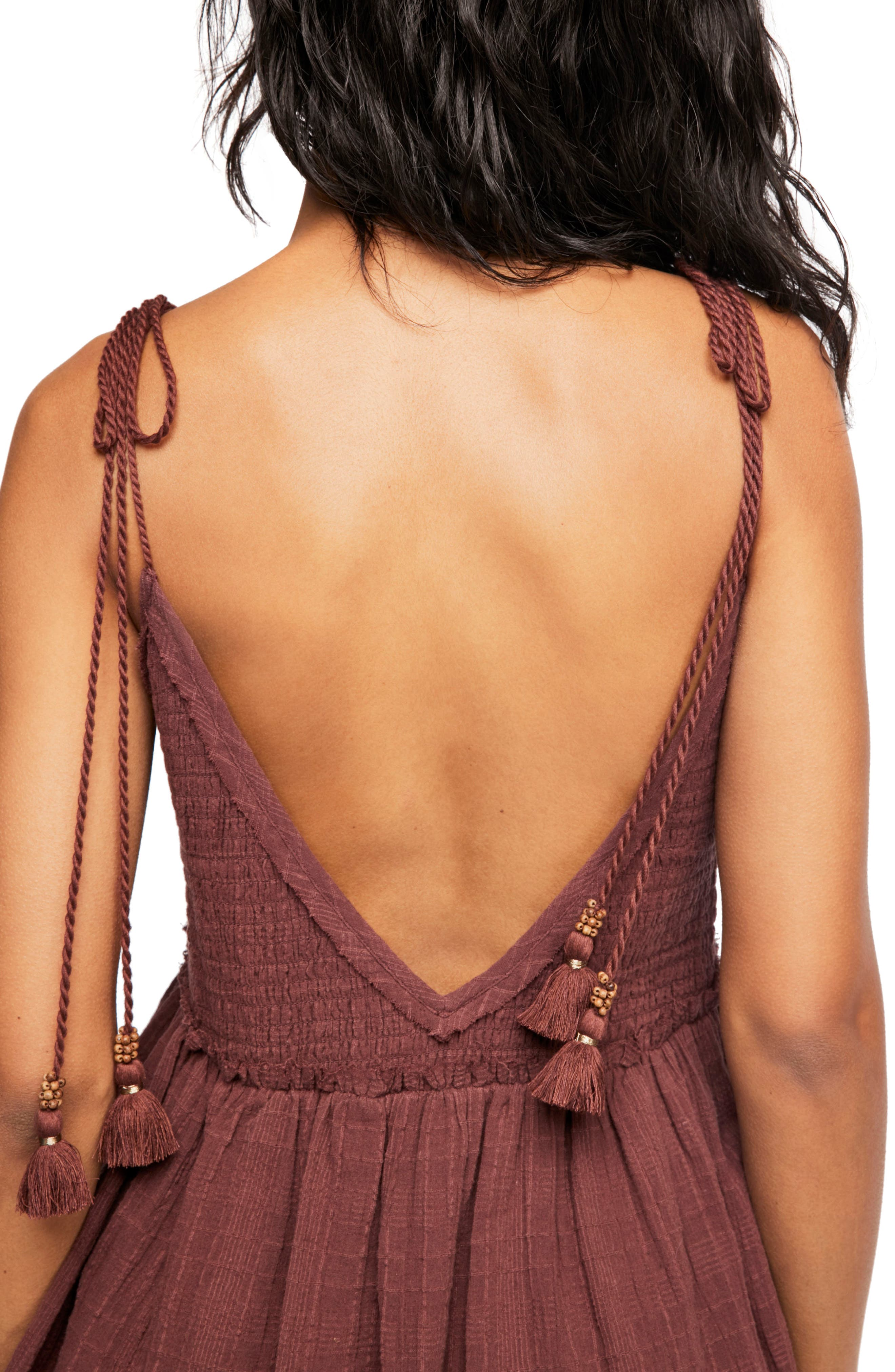 Endless Summer by Free People Sun Drenched Minidress,                             Alternate thumbnail 3, color,                             Dark Purple