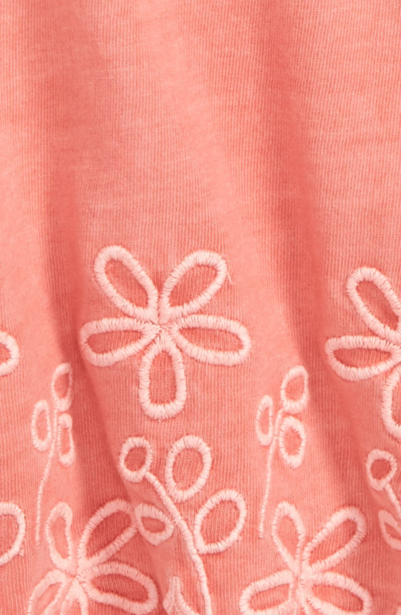Easy Embroidered Tunic Tank,                             Alternate thumbnail 2, color,                             Coral Shell
