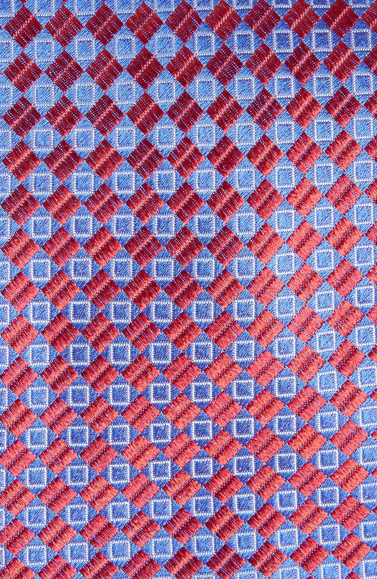 Middletown Geometric Silk Tie,                             Alternate thumbnail 2, color,                             Red Fashion
