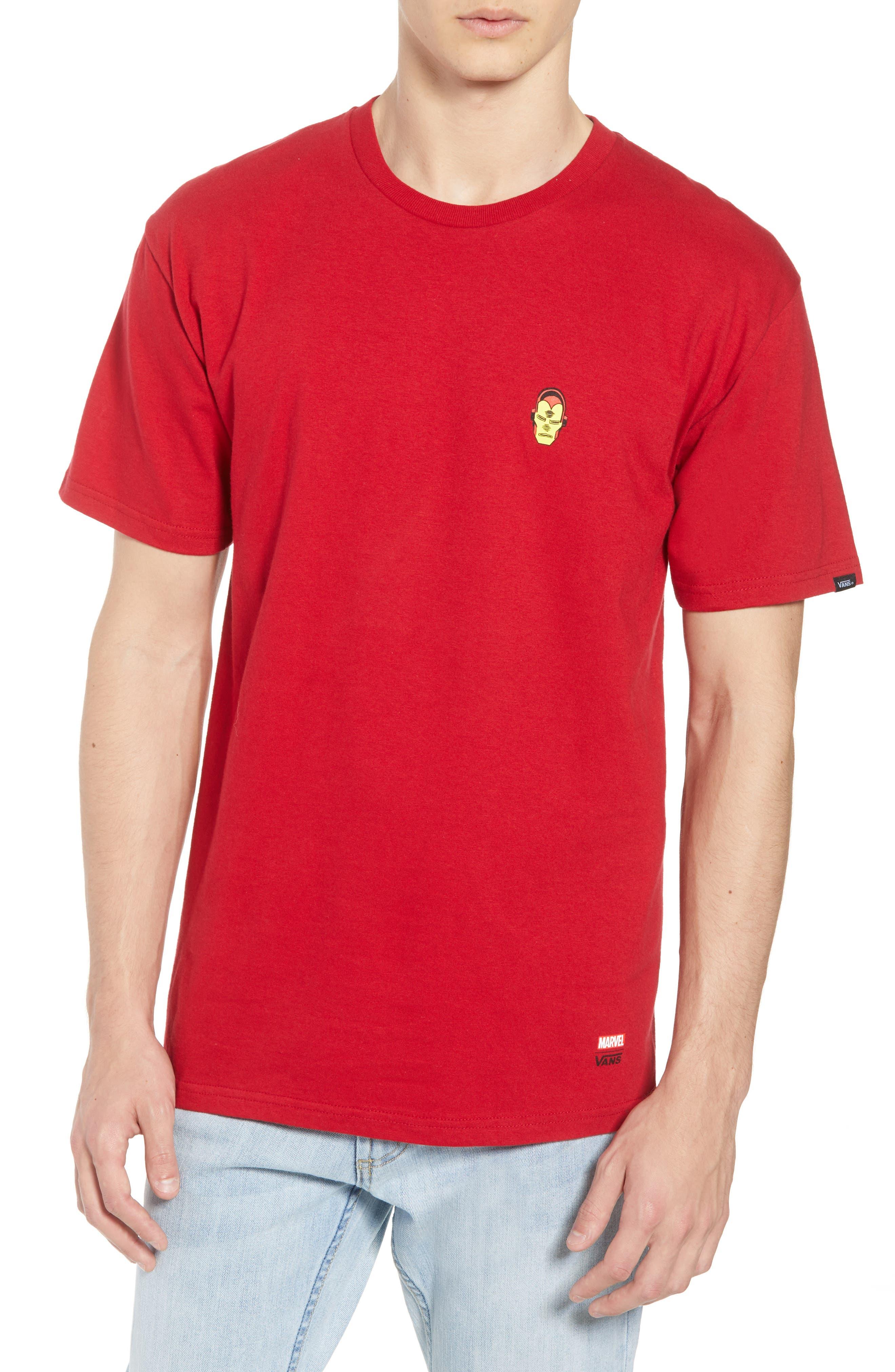 x Marvel<sup>®</sup> Iron Man T-Shirt,                             Main thumbnail 1, color,                             Cardinal