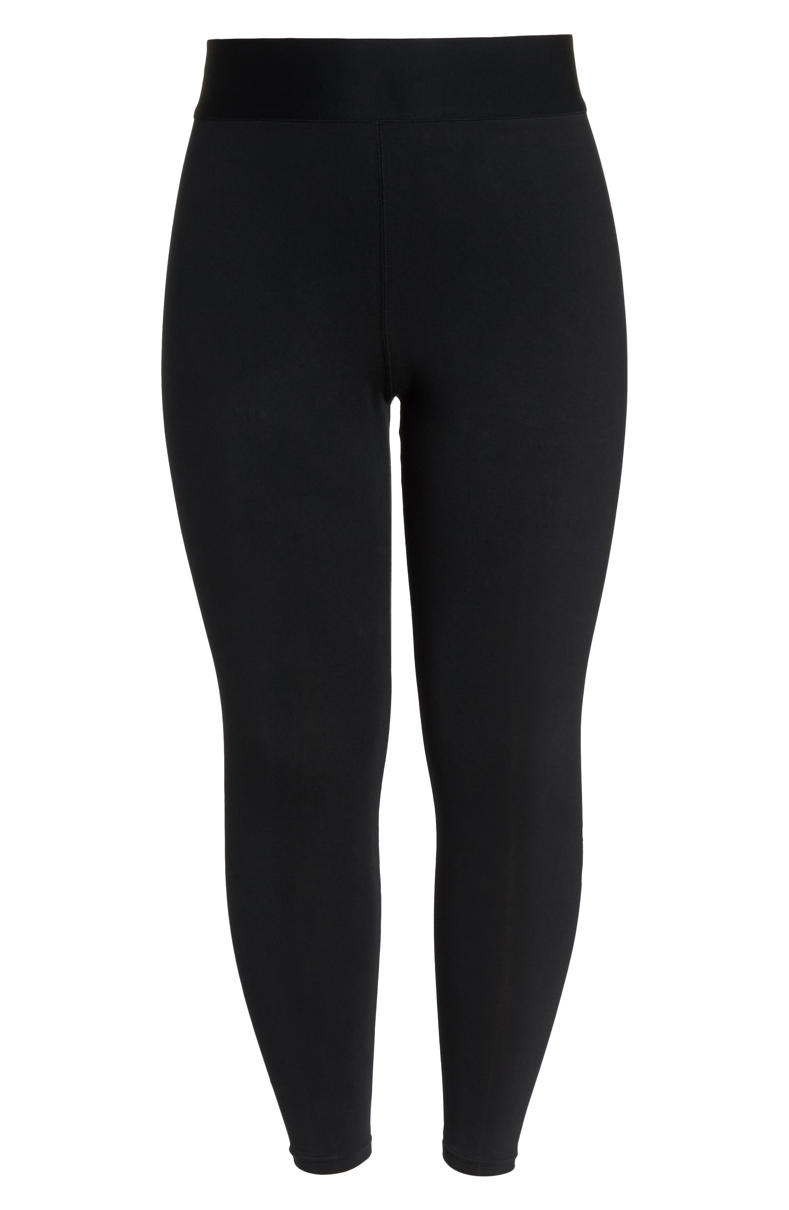 Sportswear Metallic Logo Leggings,                             Alternate thumbnail 7, color,                             Black/ Black