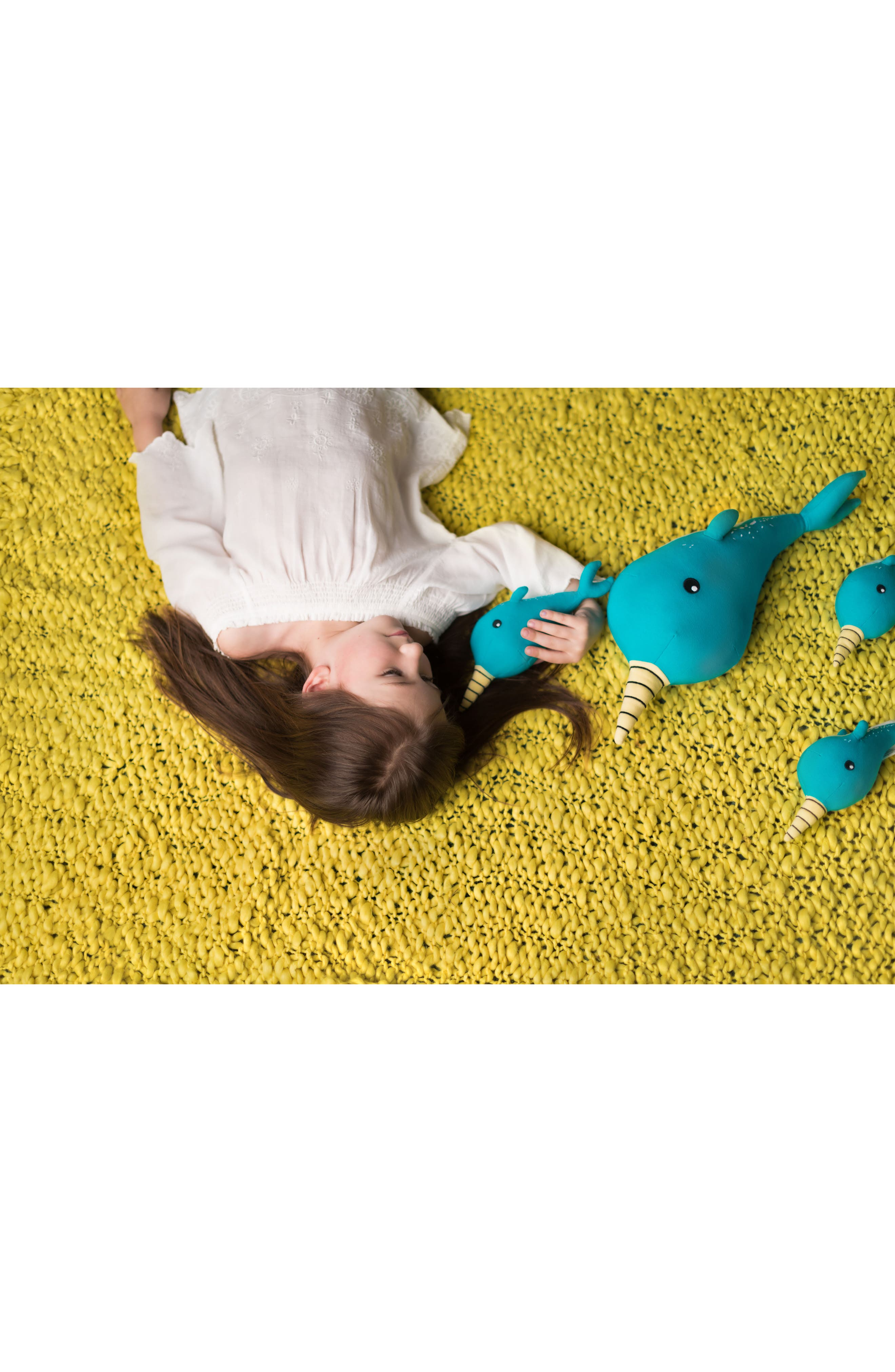 Small Norman Narwhal Stuffed Animal,                             Alternate thumbnail 3, color,                             Blue