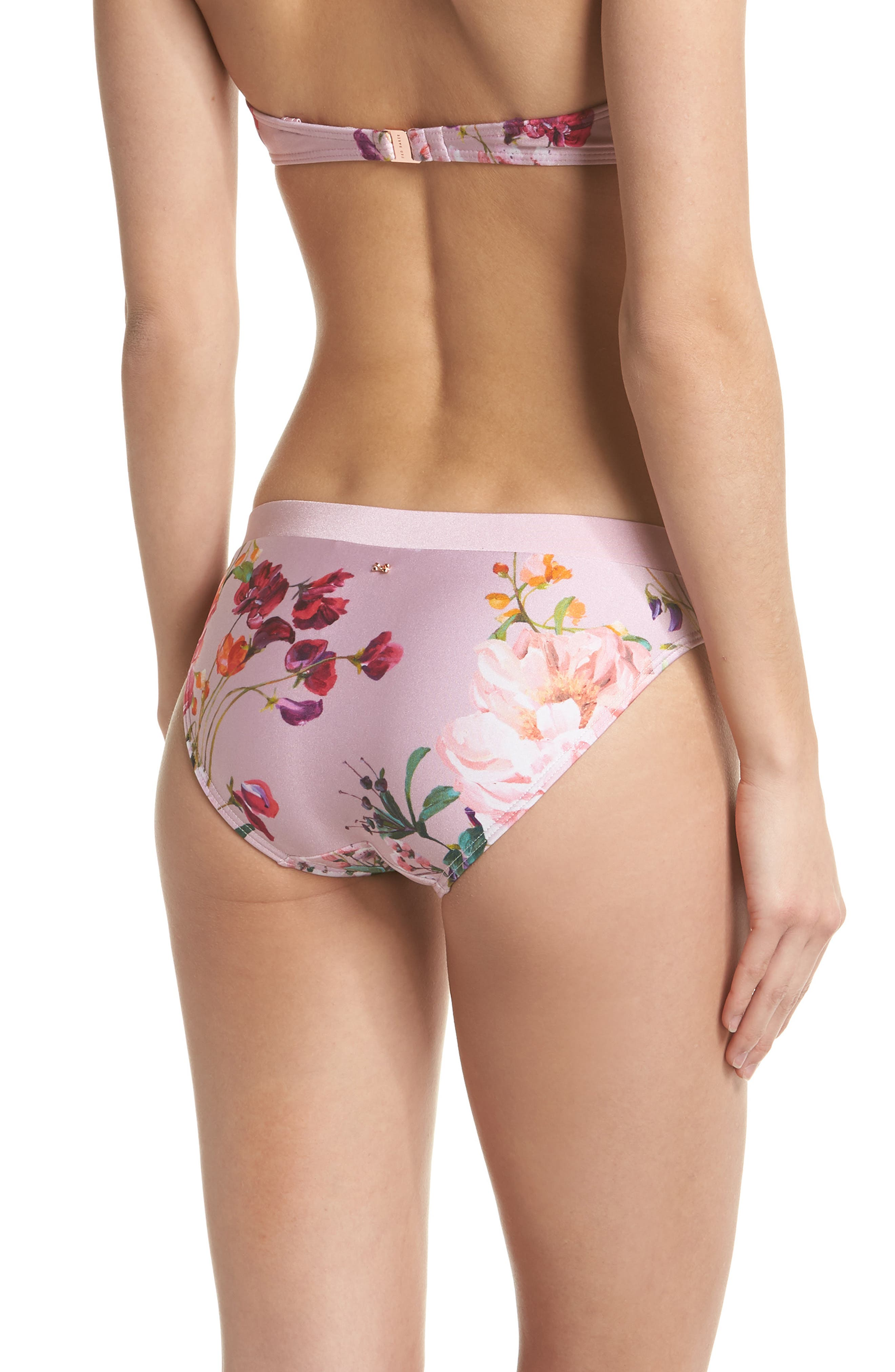 Serenity Floral Bikini Bottoms,                             Alternate thumbnail 2, color,                             Pale Pink