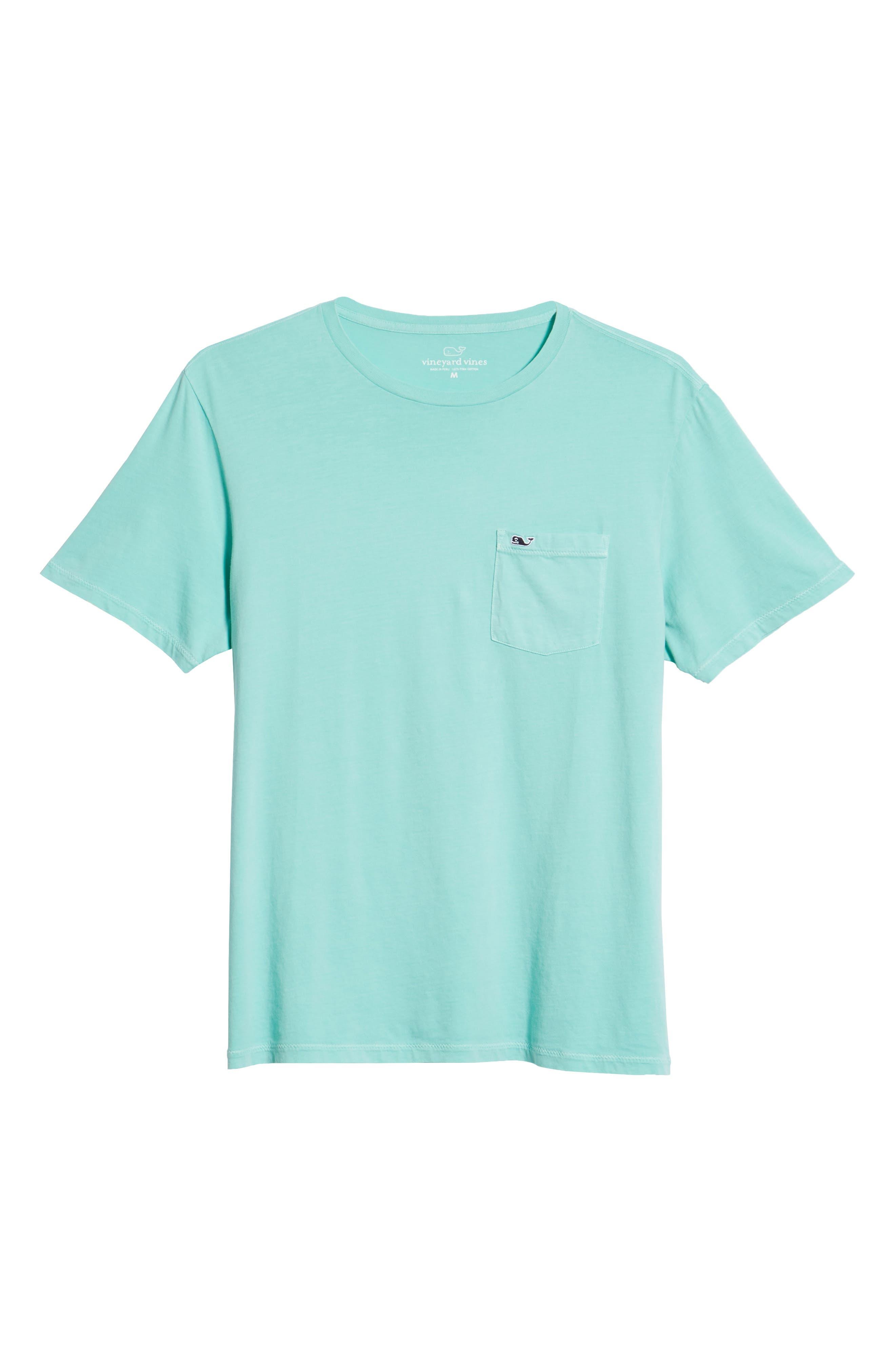 Dockside Regular Fit Crewneck T-Shirt,                             Alternate thumbnail 5, color,                             Capri Blue